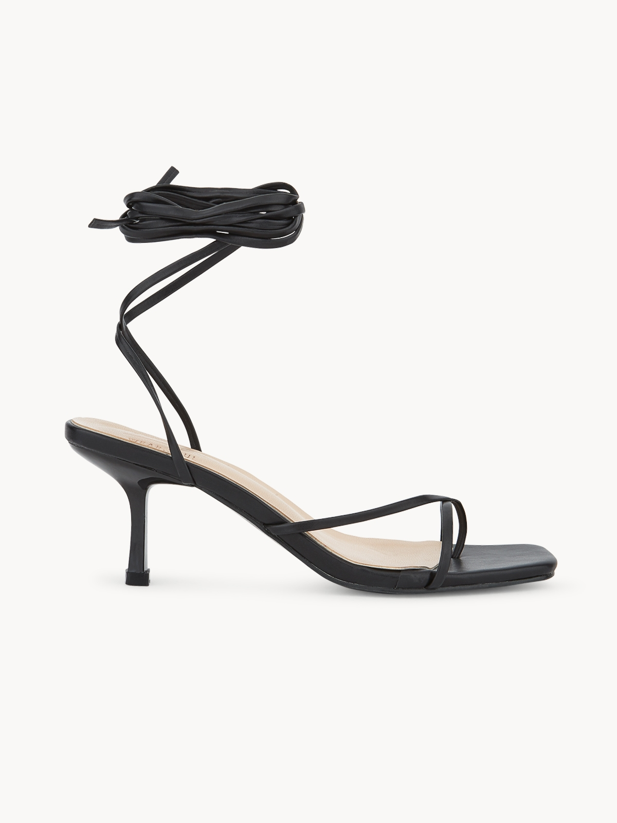 Pomelo x Wear Soul Strapped Sandal Heels Black