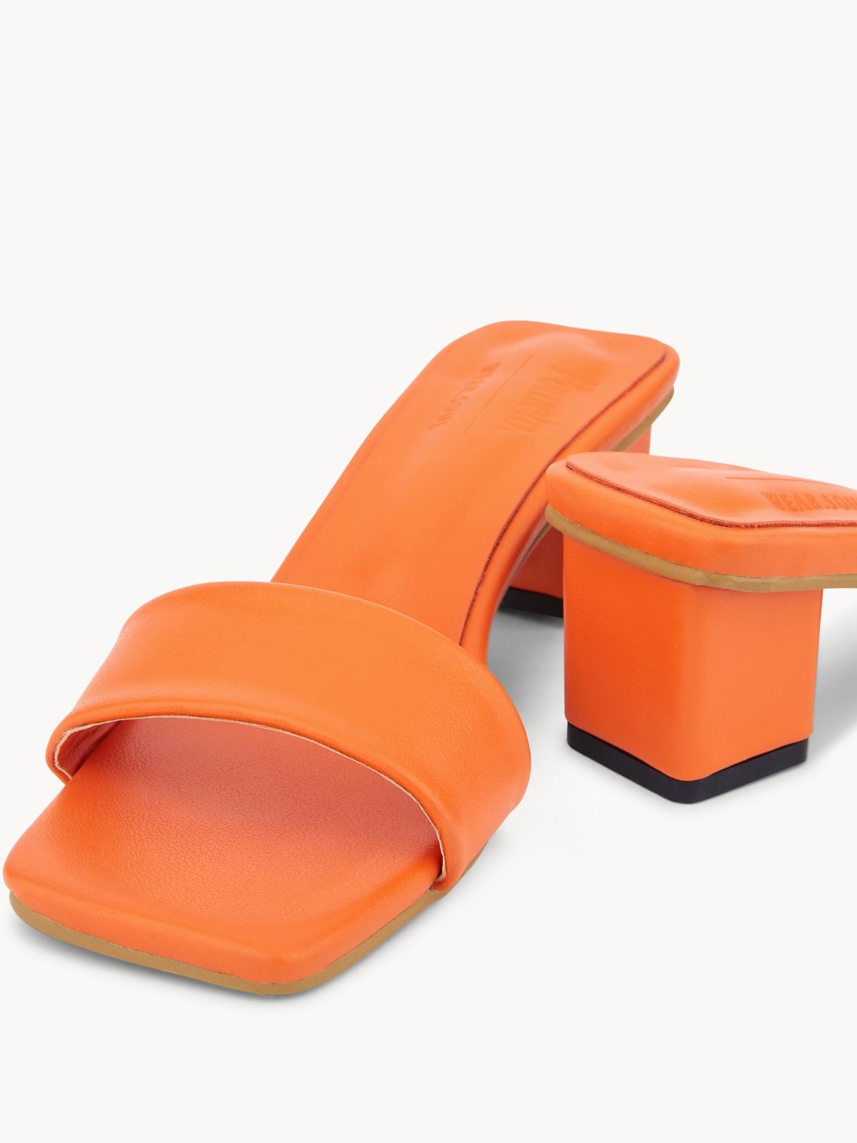 Pomelo x Wear Soul Mule Mid Heels Orange