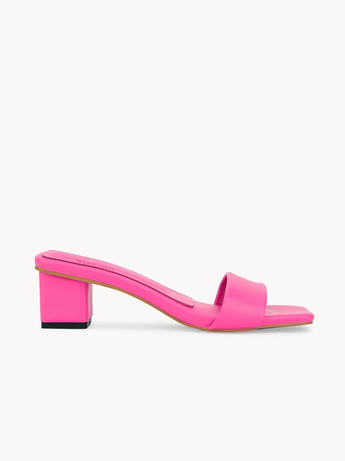 Pomelo x Wear Soul Mule Mid Heels Pink