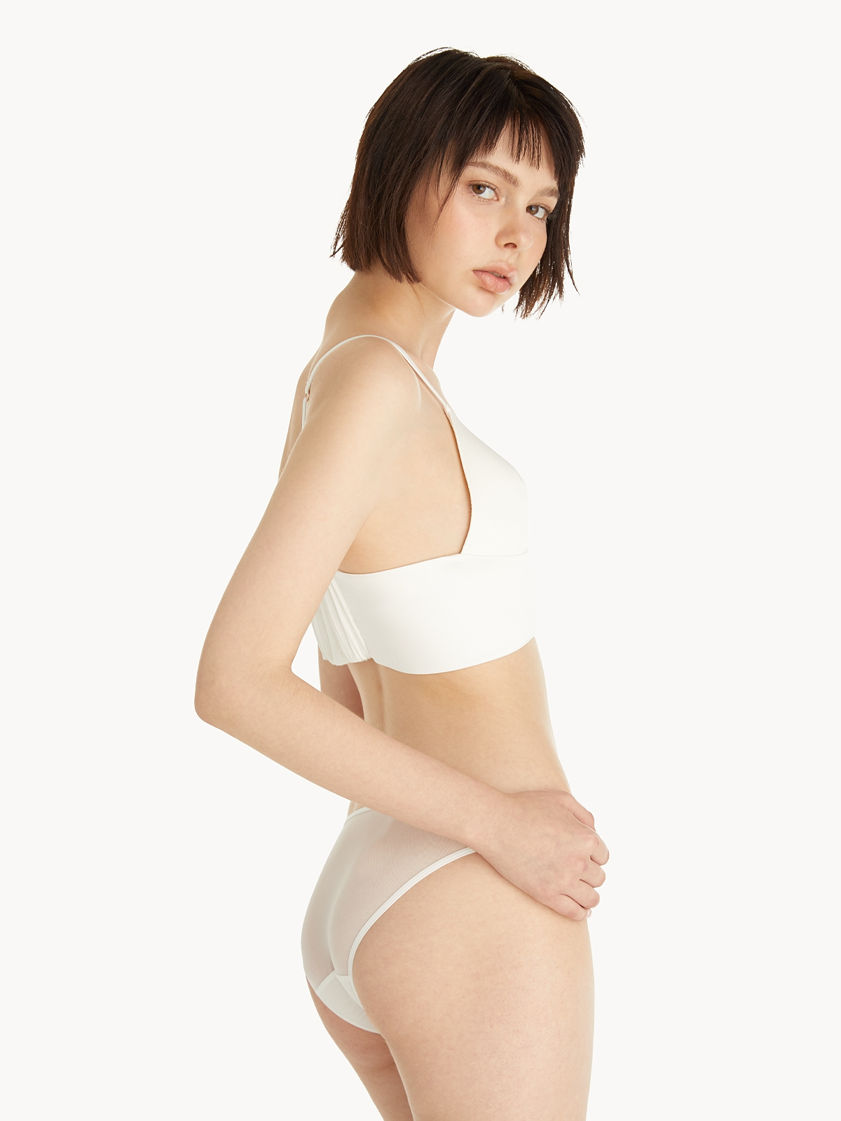 Sabina Sheer Underwear White