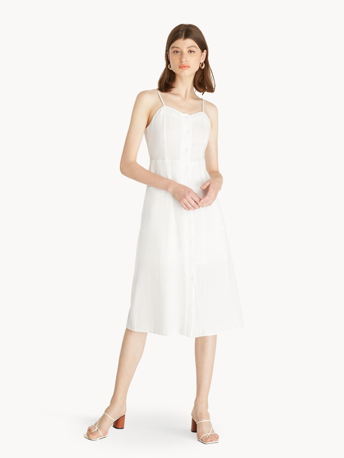 Cami Buttoned Dress White
