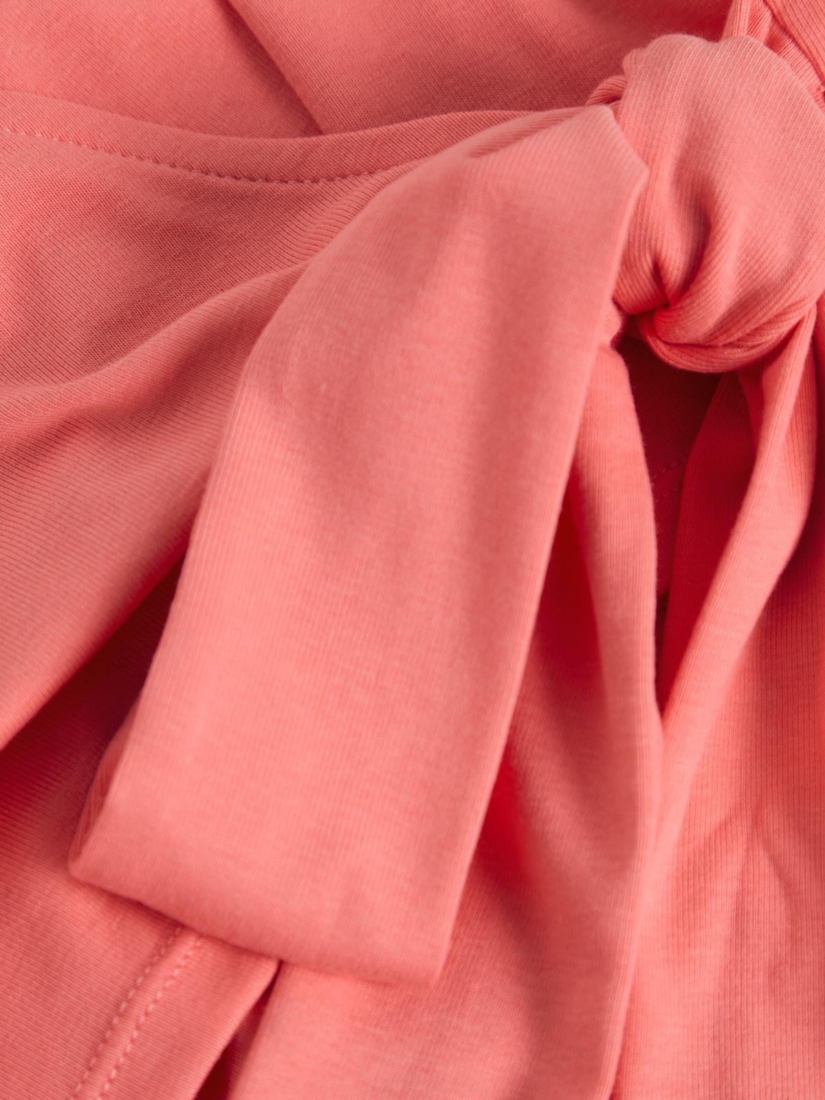 Tie Wrap Crop Top Pink