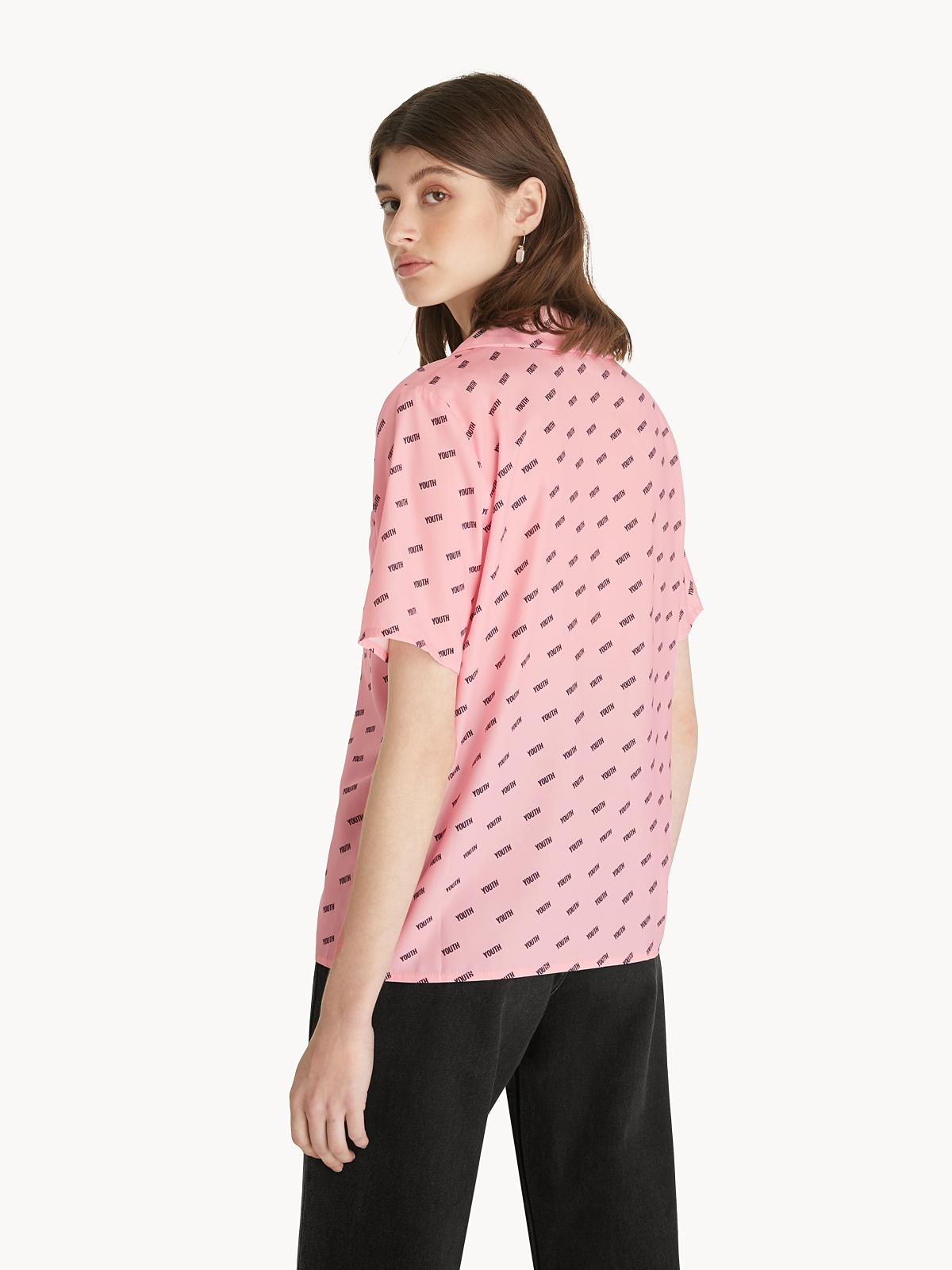 Youth Button Up Shirt Pink