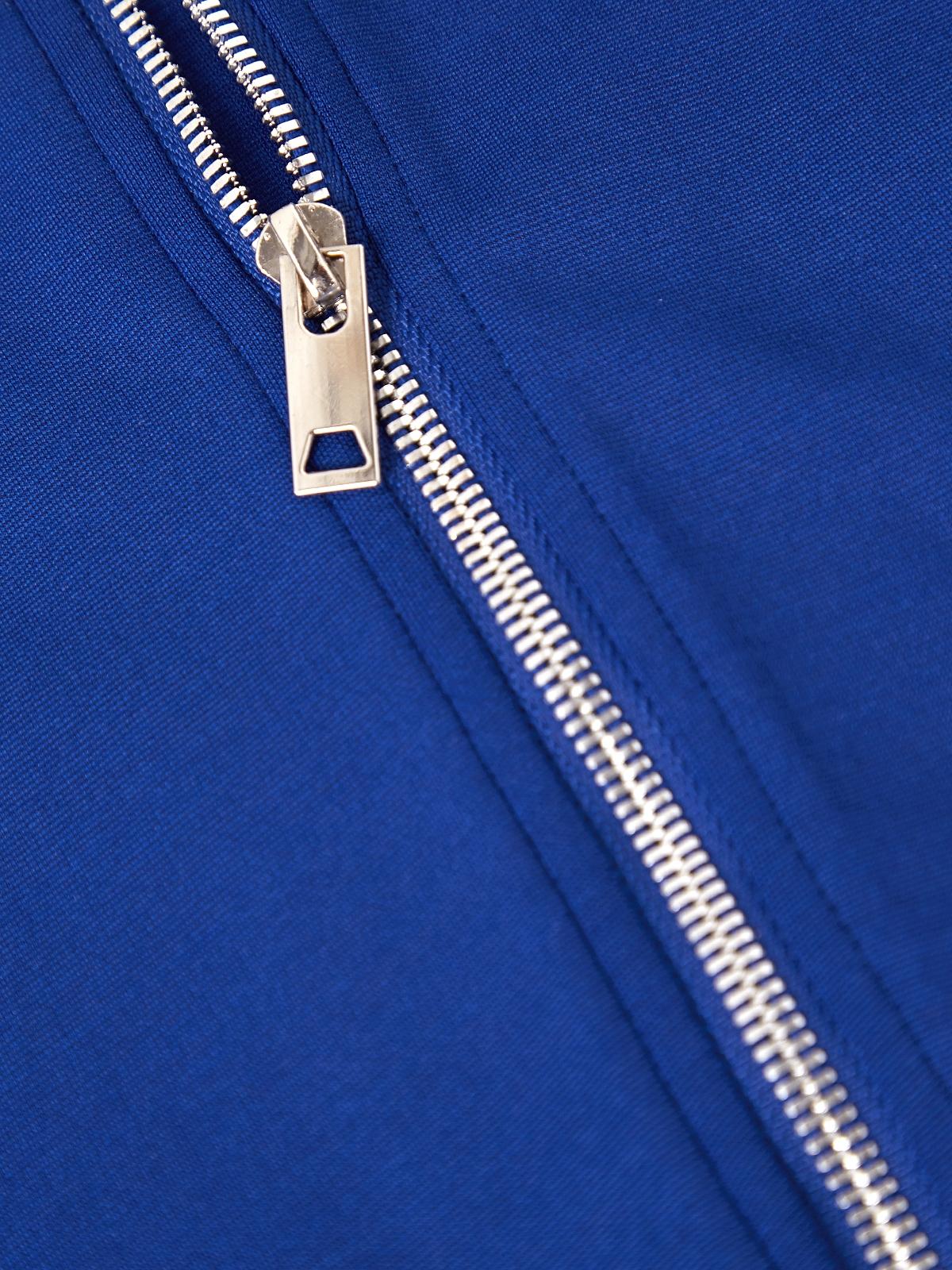 Zipped Back Peplum Top Blue