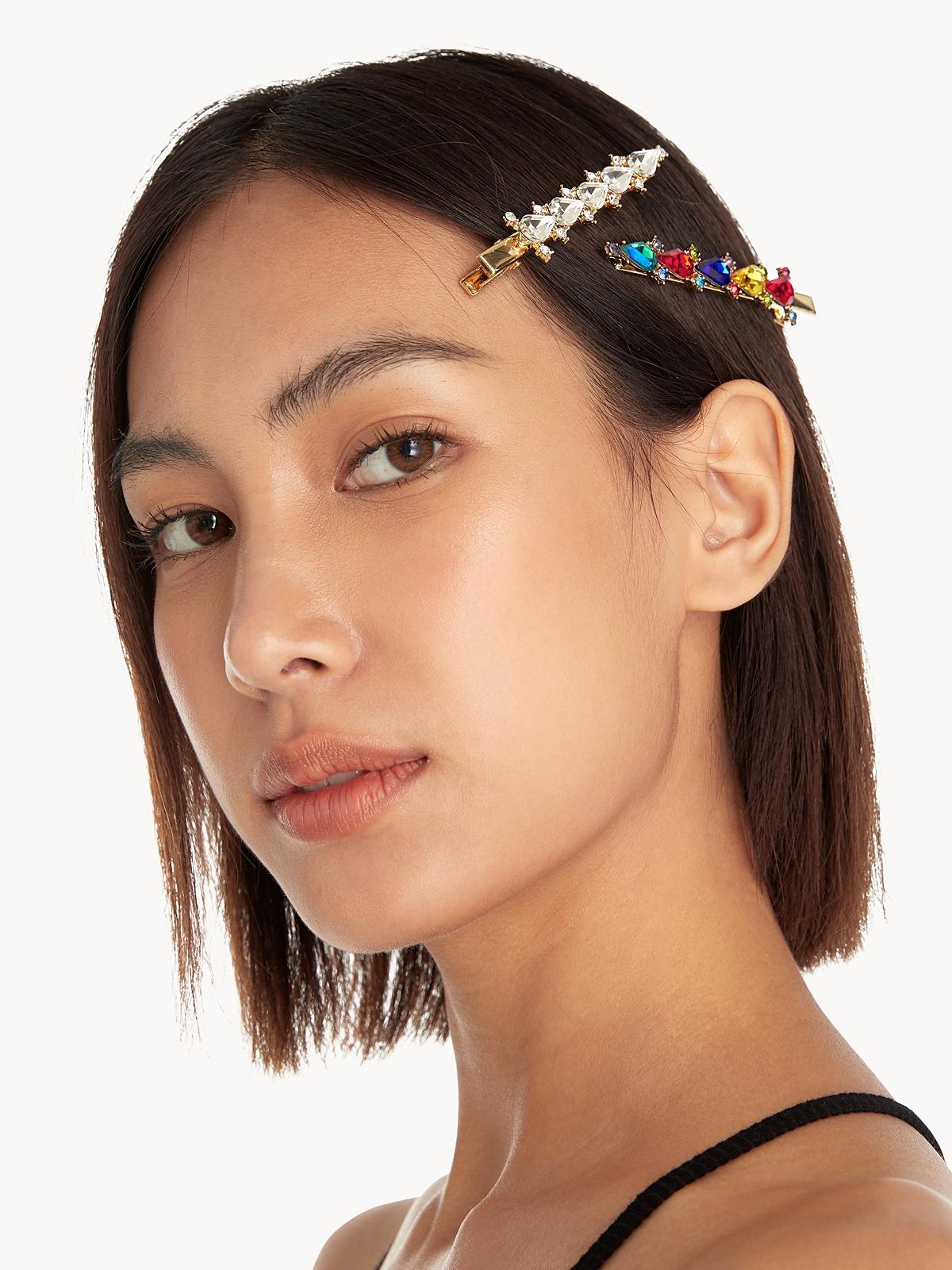 Abstract Diamante Hair Pins Multi Color