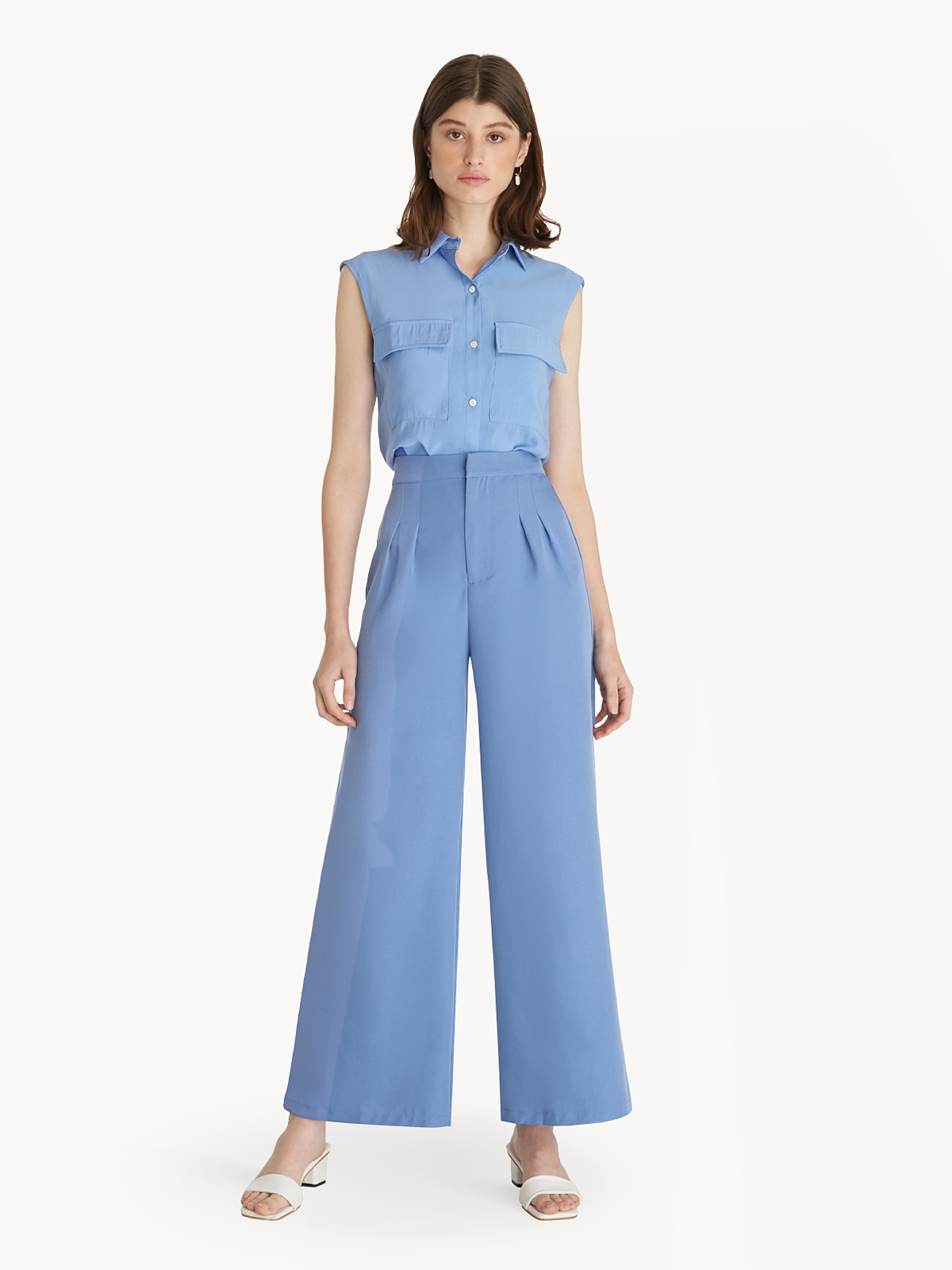 Front Pocket Tunic Blue