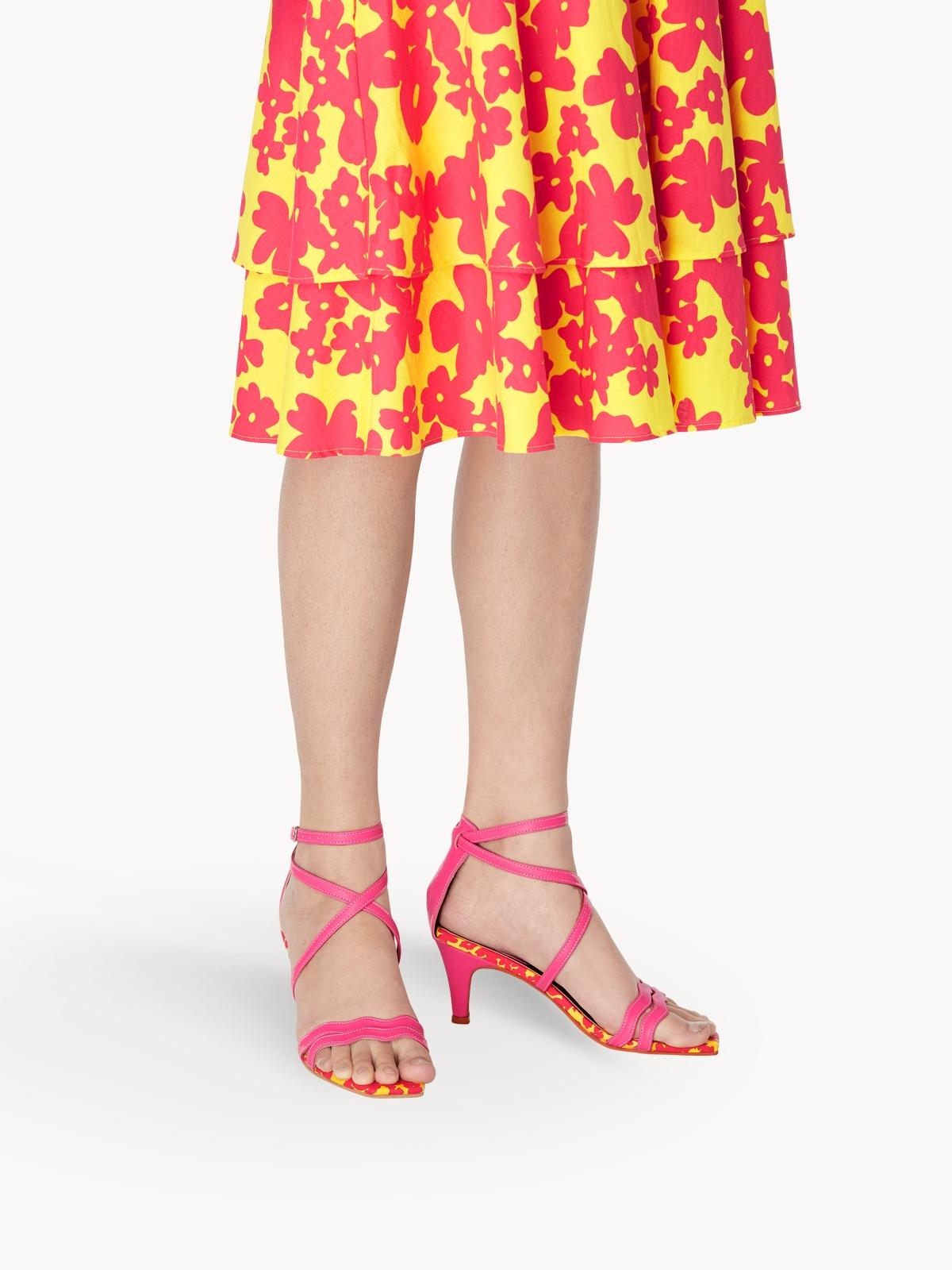 Purpose Pomelo x Oyster Flower Heel Sandals Fuchsia