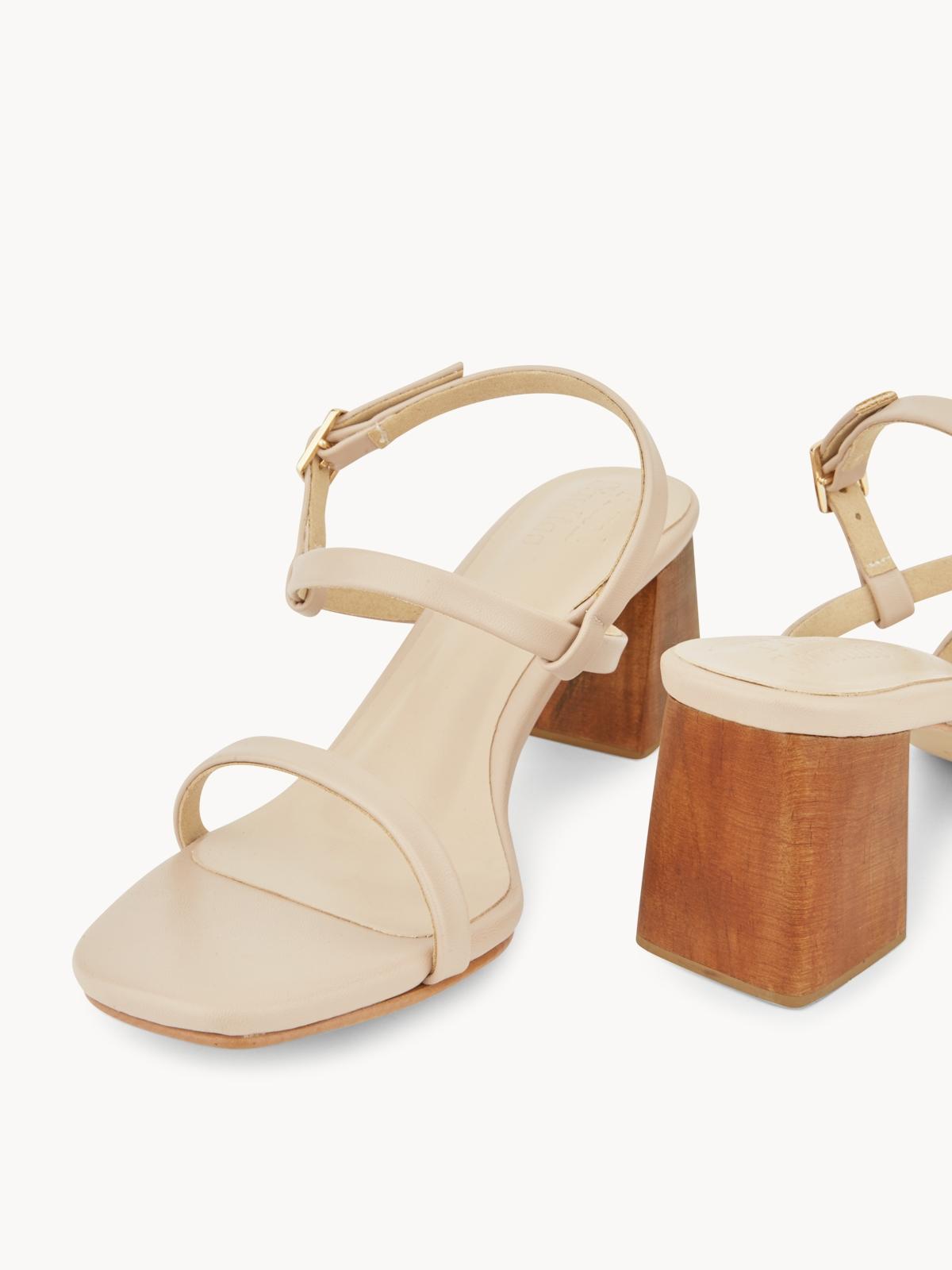 Plush Studios Kara Block Sandals Beige