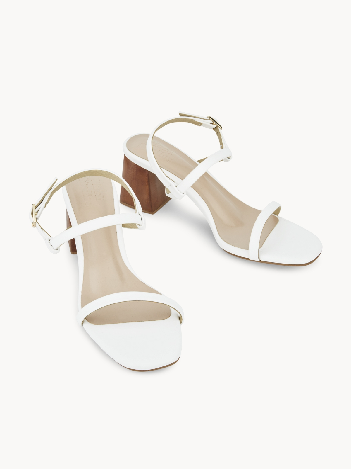 Plush Studios Kara Block Sandals White