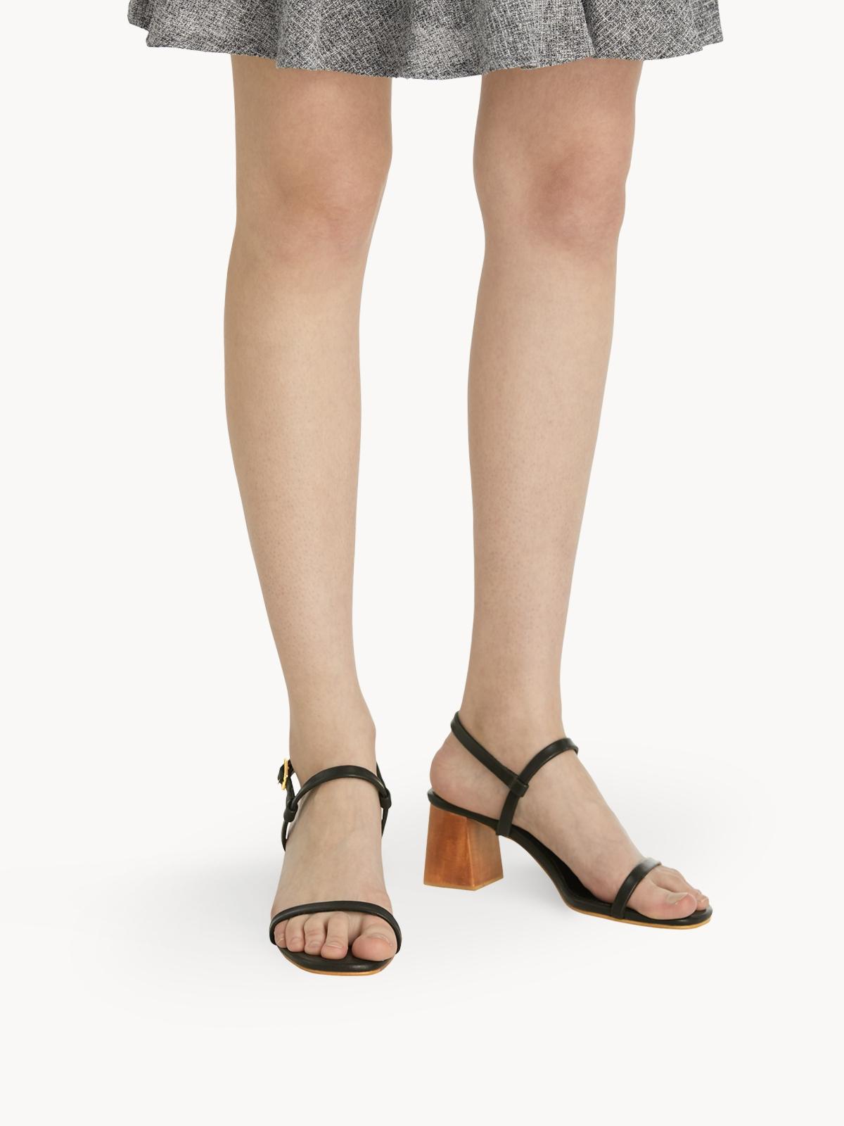 Plush Studios Kara Block Sandals Black