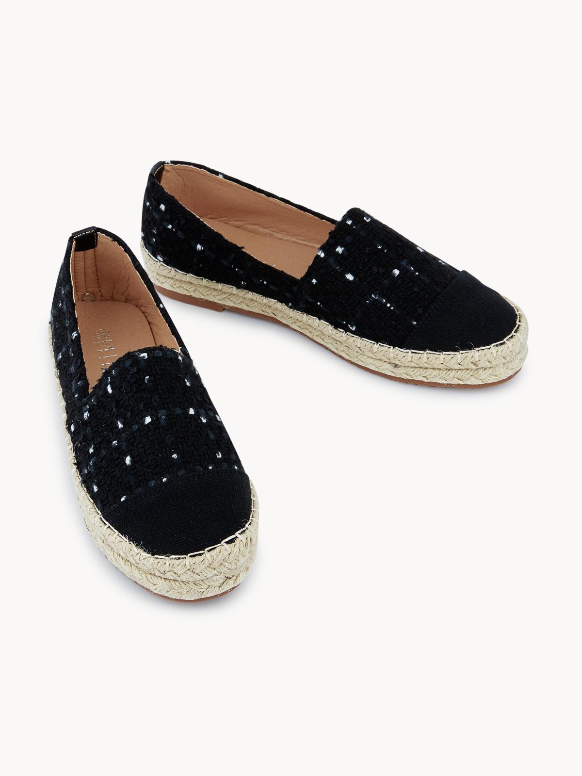 MINX Chloe Tweed Sneakers Black