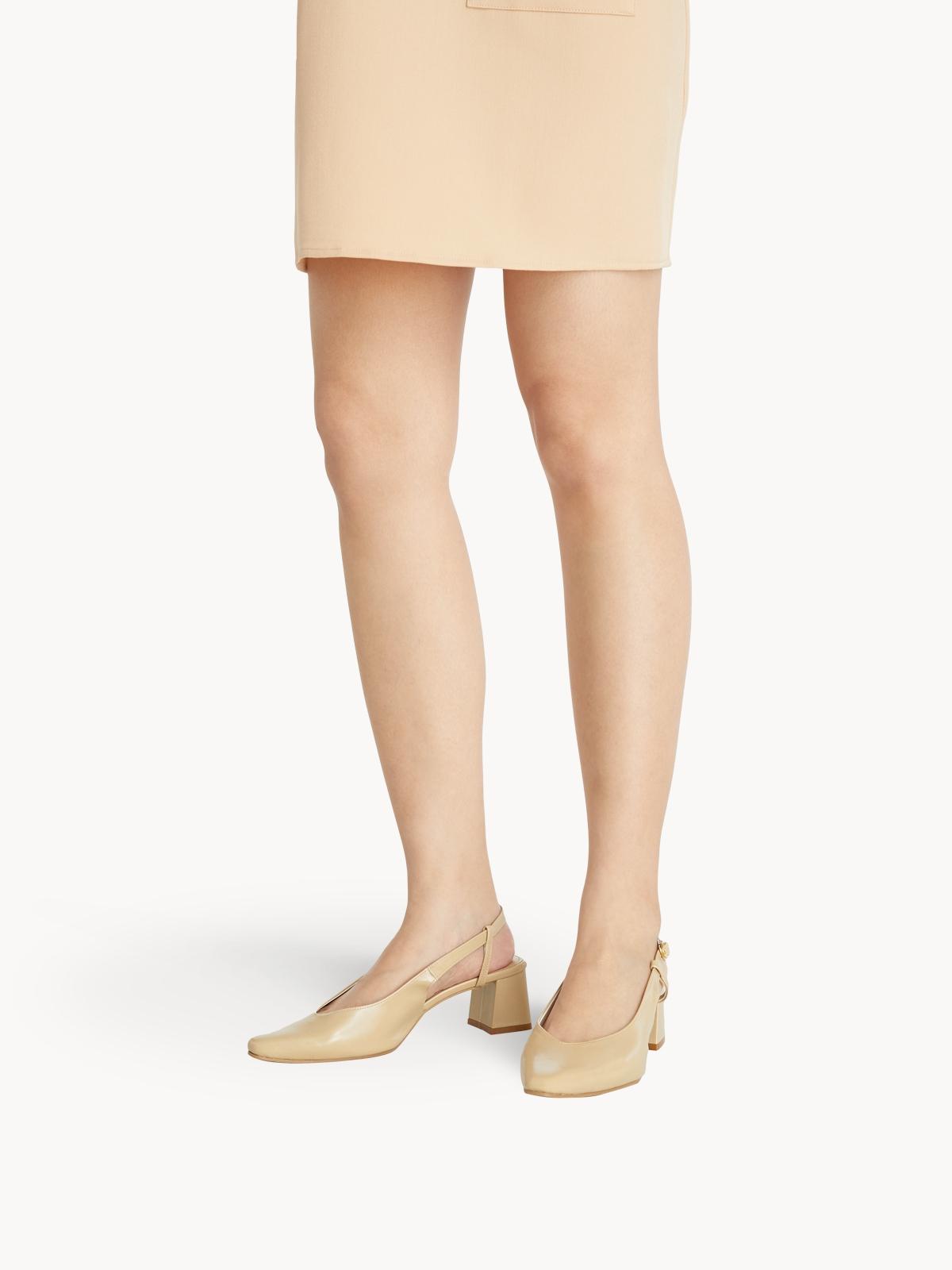 Minx Cynthia Block Heels Nude