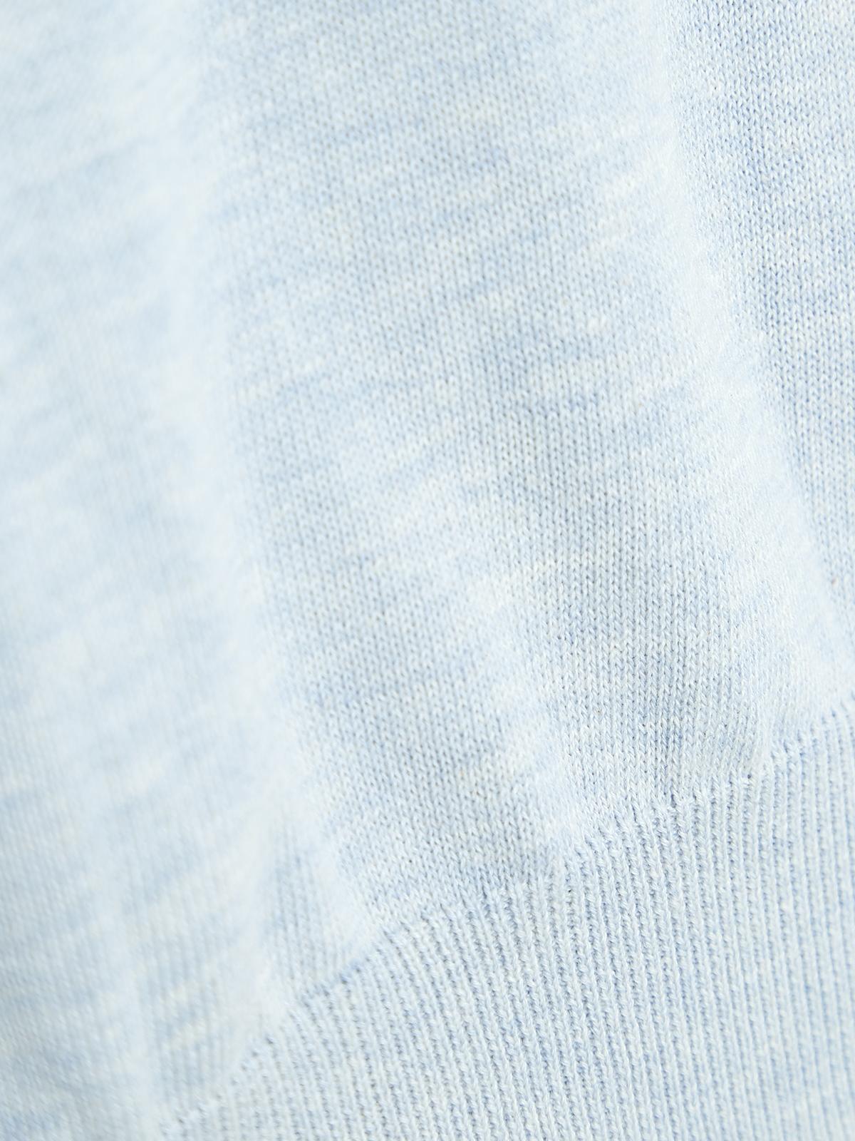 Short Sleeve Knit Top Blue