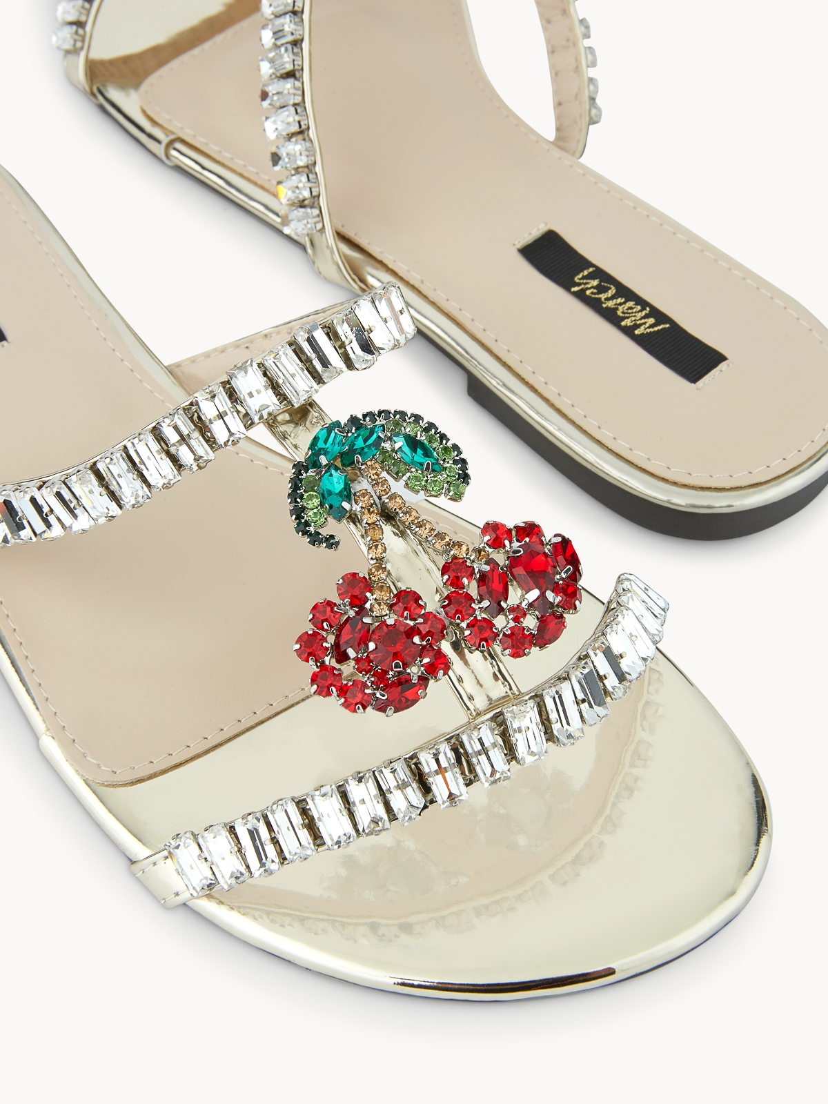 March Shoes Cherry Sandals Red