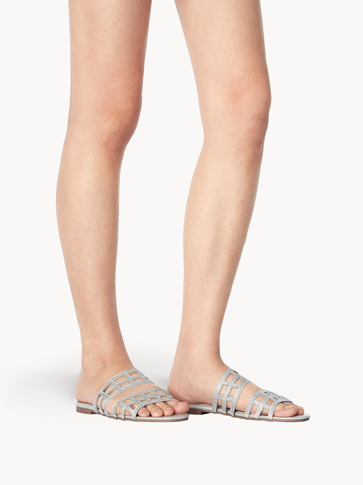 March Shoes West Sandals Silver