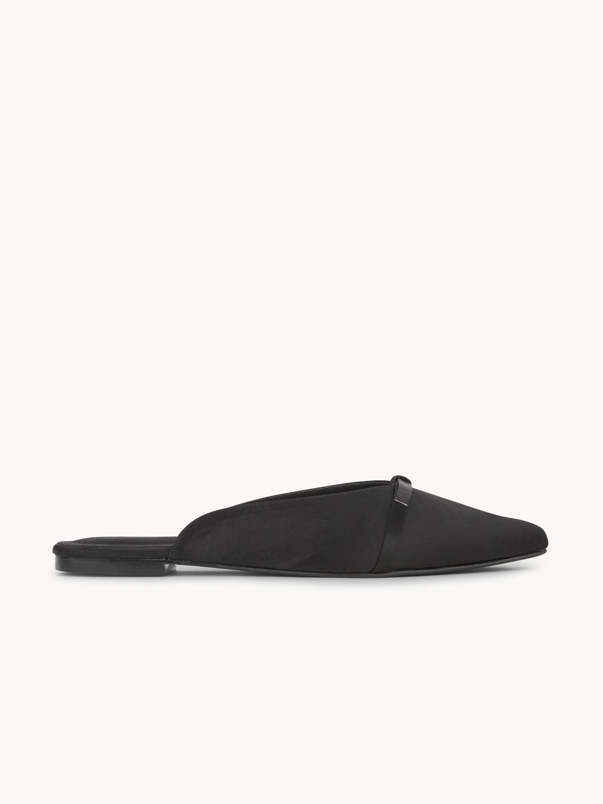 Thara Bouquet Slide Mules Black
