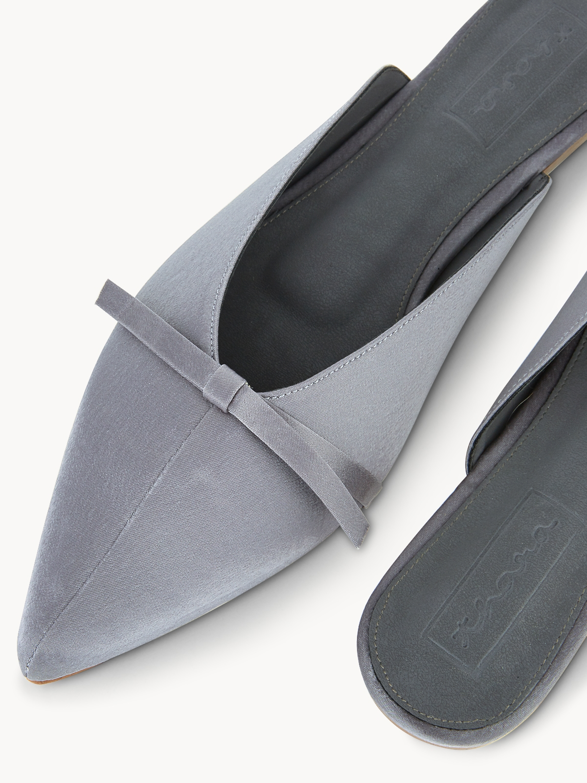 Thara Bouquet Slide Mules Mid Grey
