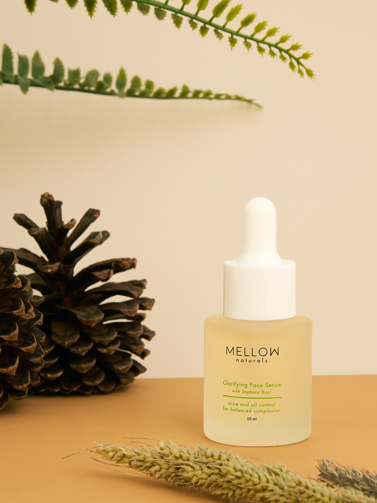 MELLOW Naturals Clarifying Face Serum With Sophora Root