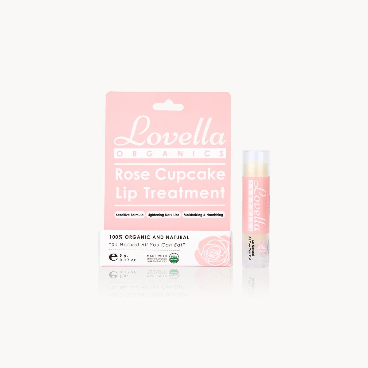 Lovella Organics Lip Treatment Rose Cupcake