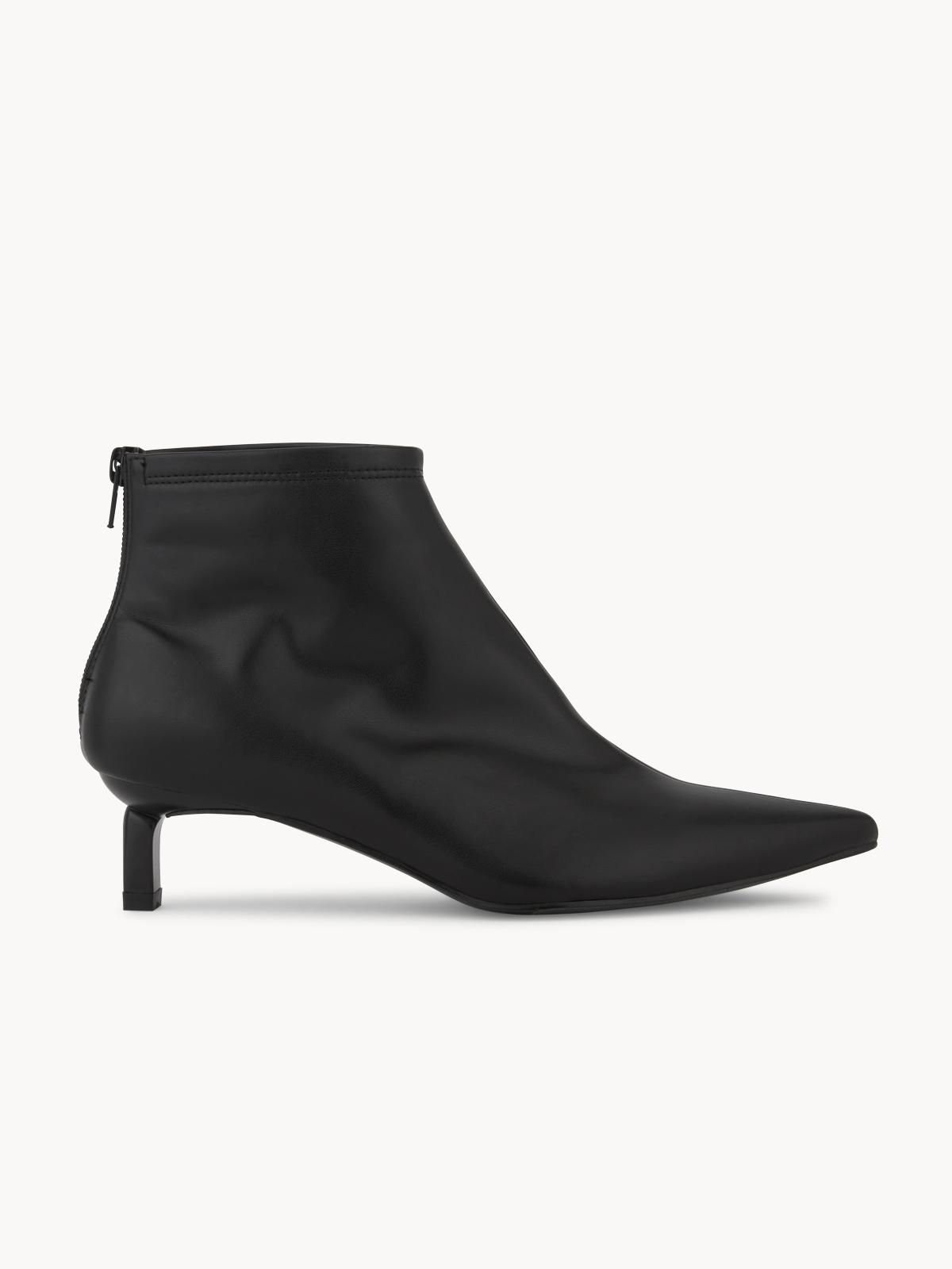 Starkela Heeled Ankle Boots Black