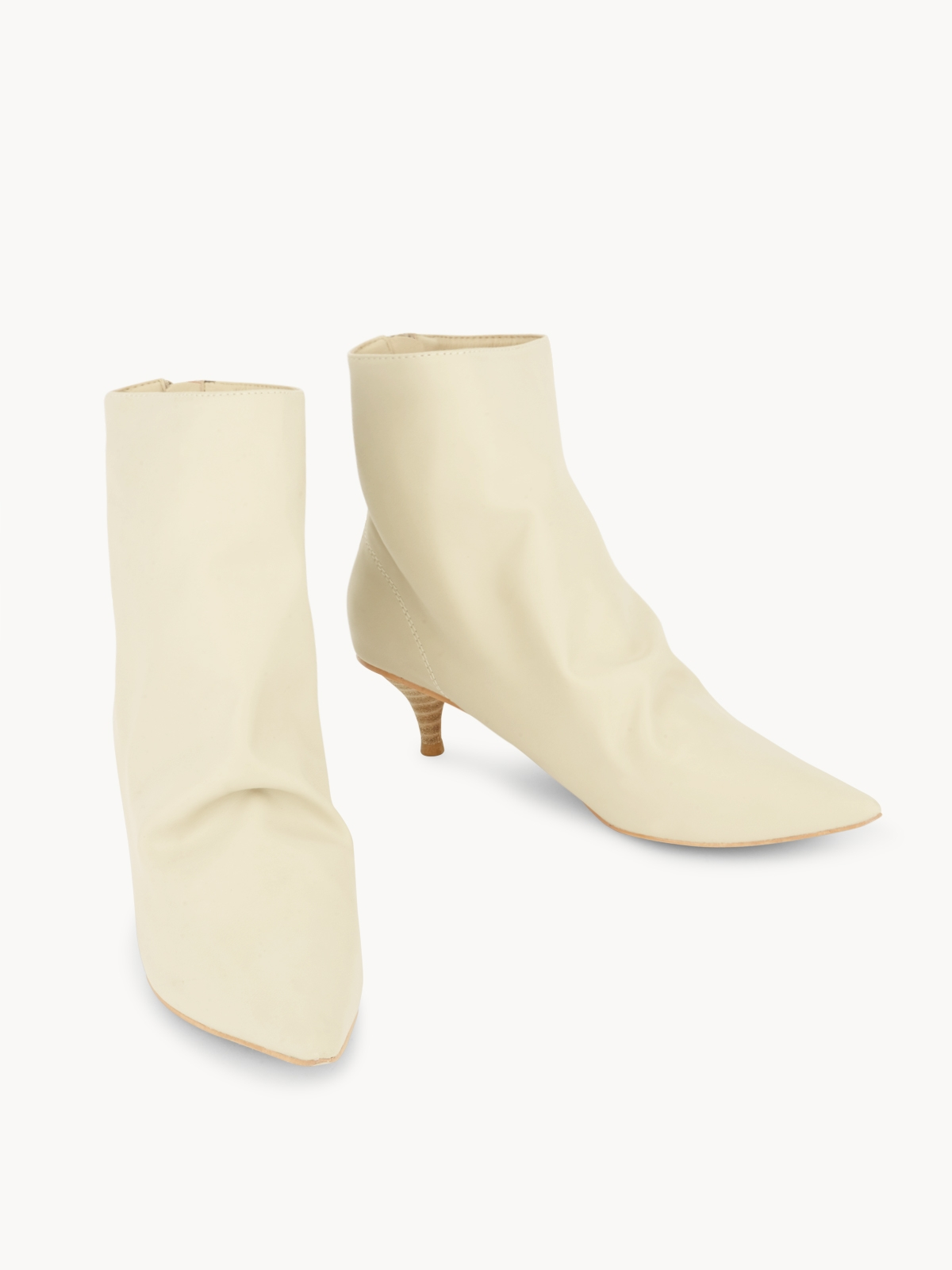 Starkela Western Knee High Boots Beige