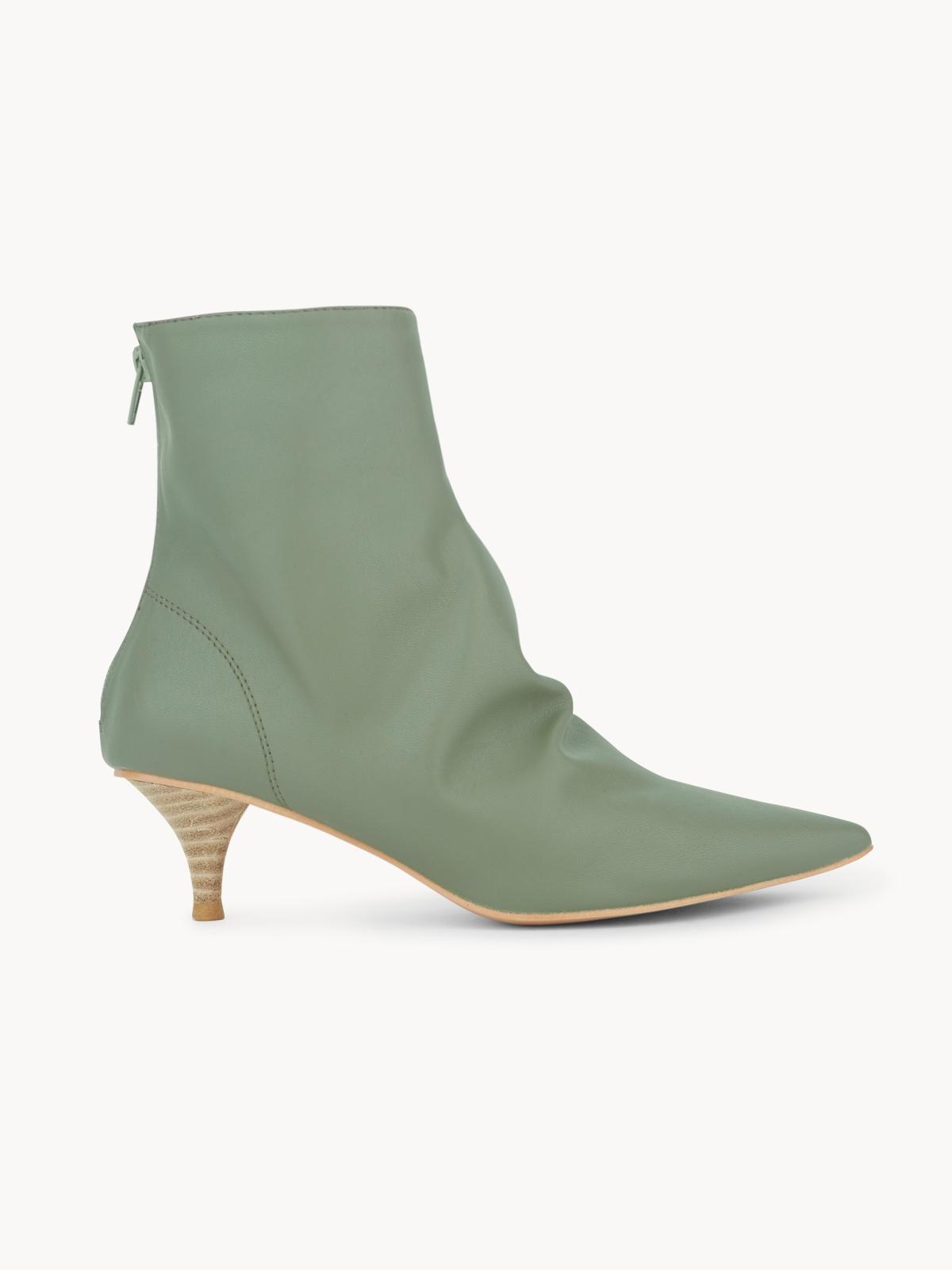 Starkela Western Knee High Boots Green