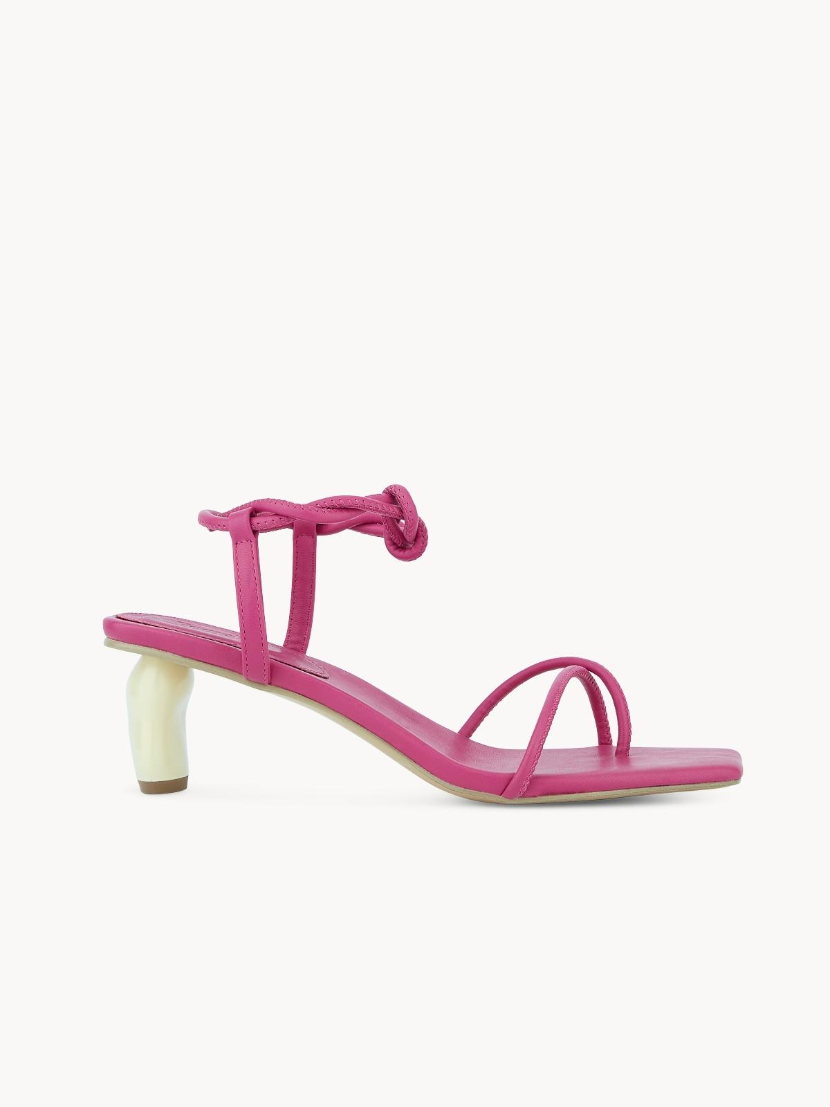 Starkela Ankle Strap Heels Pink