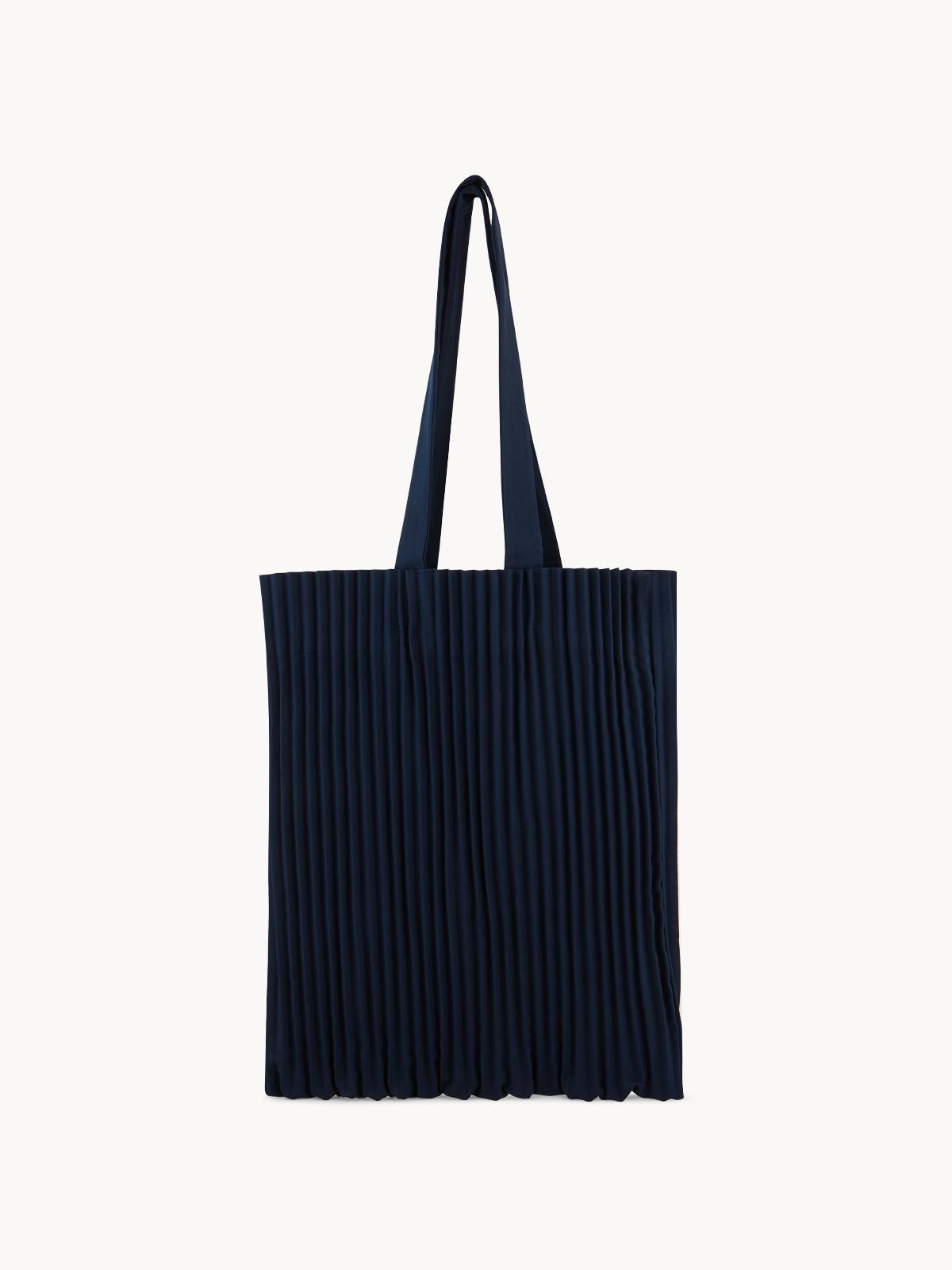 Apalepetal Pleated Tote Bag Navy