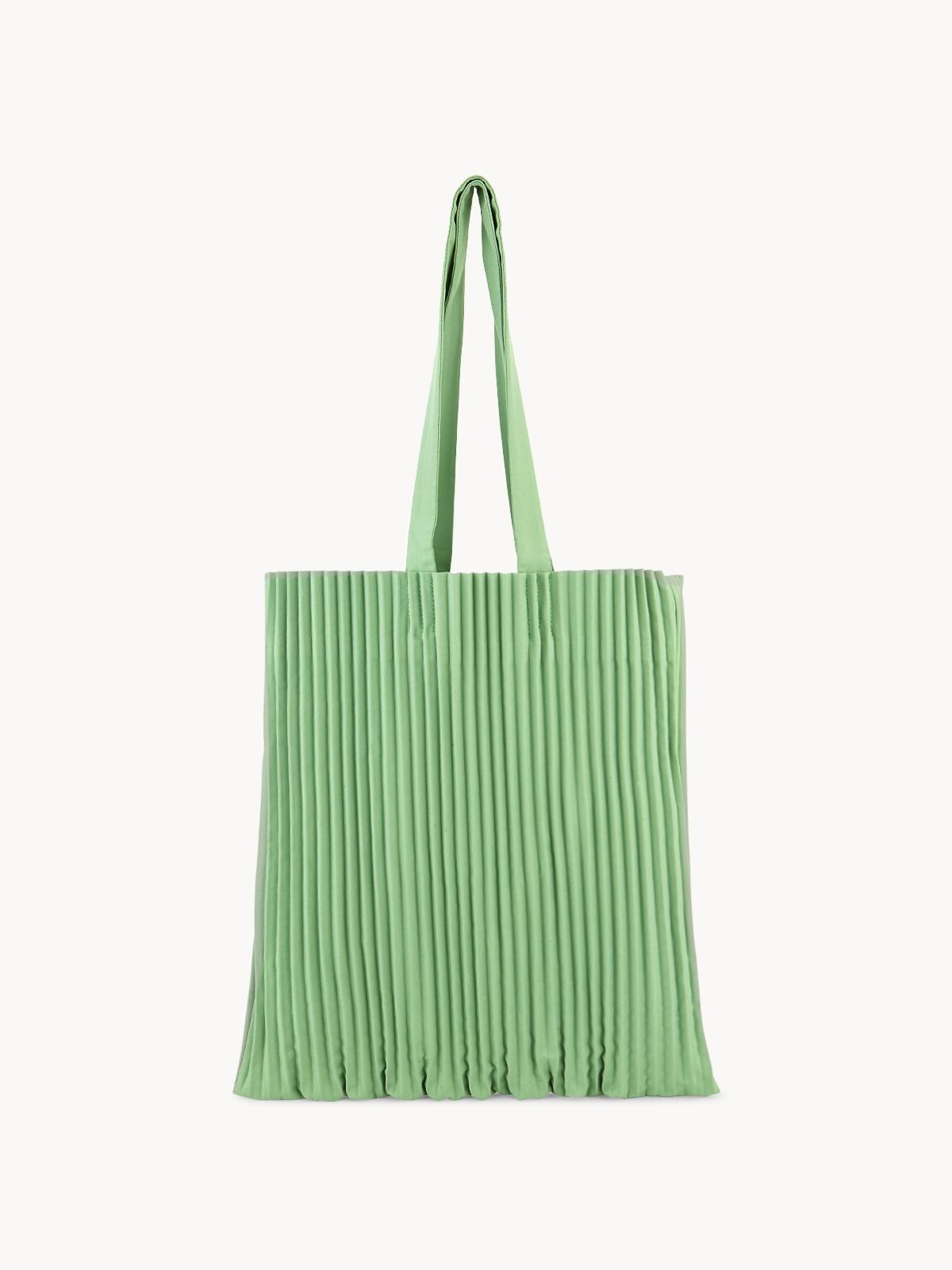 Apalepetal Pleated Tote Bag Olive