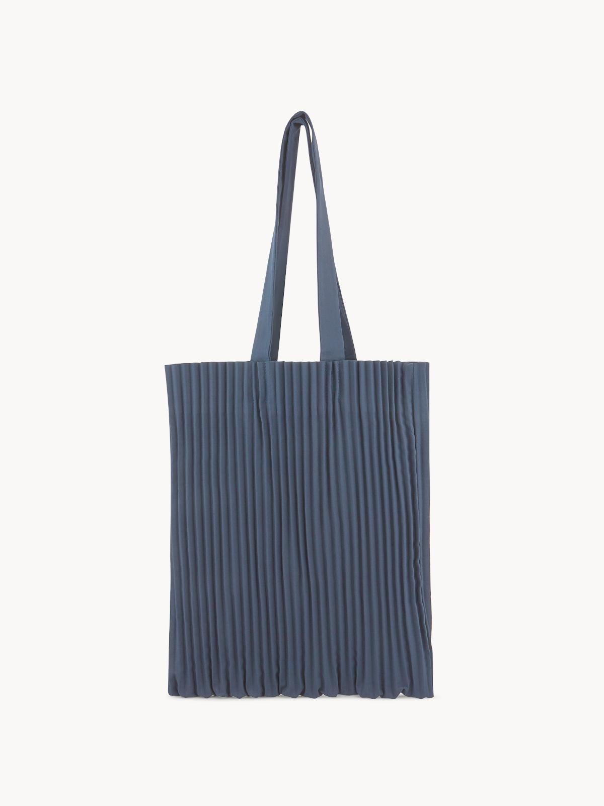 Apalepetal Pleated Tote Bag Blue
