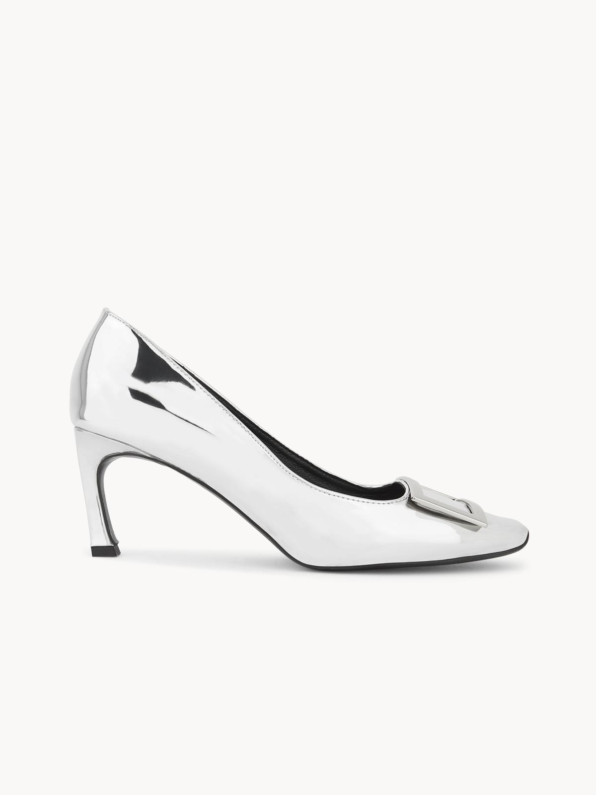 LookAtWe Stella Square Toe Heels Silver