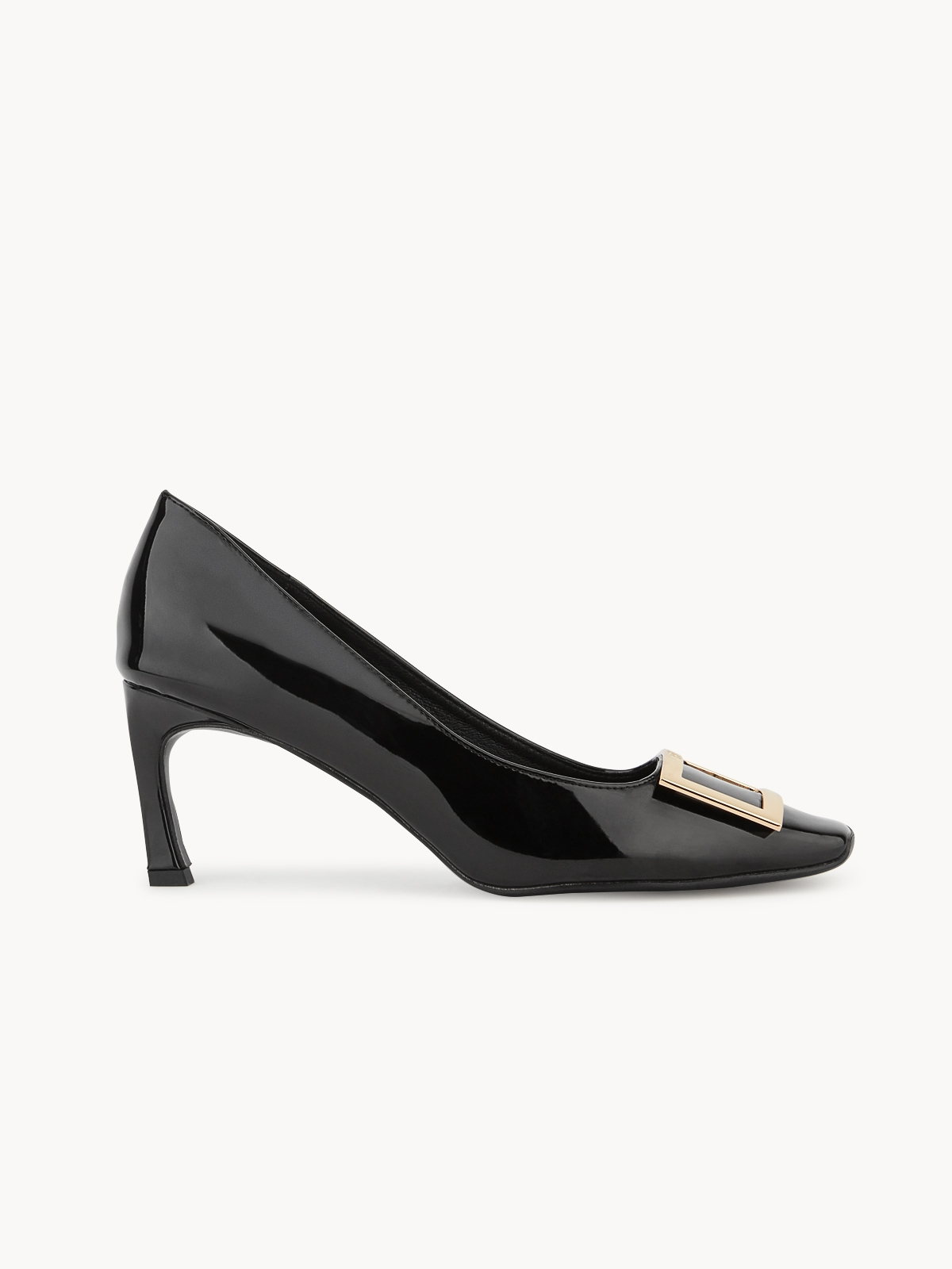 LookAtWe Stella Square Toe Heels Black