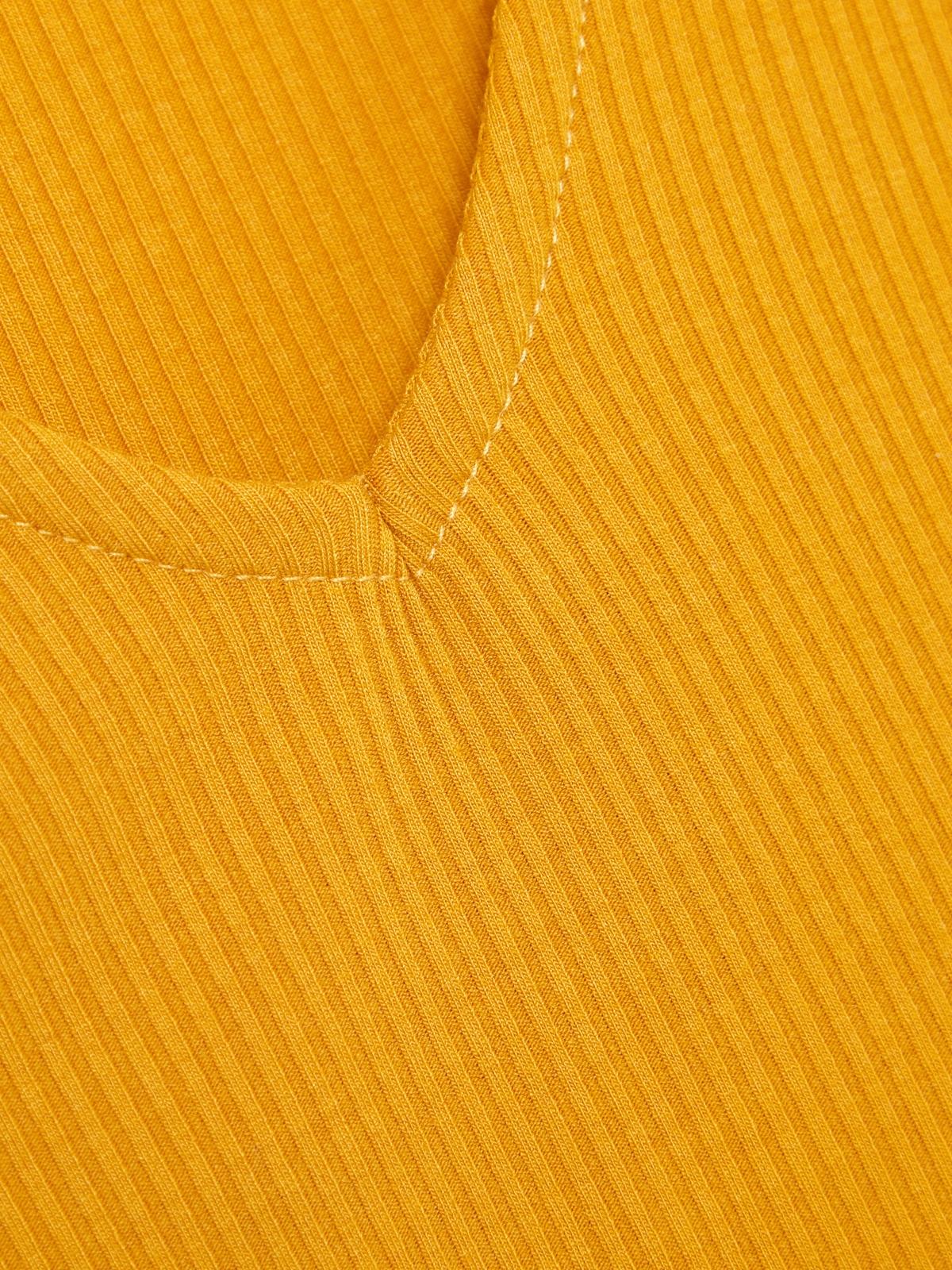 Trimmed Rib Top Mustard