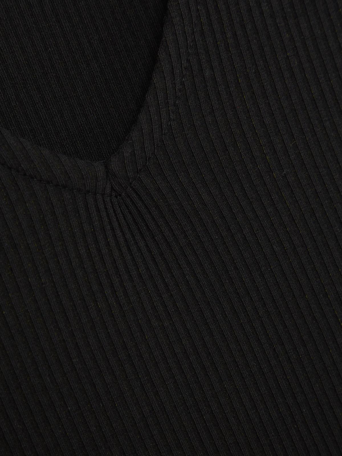 Trimmed Rib Top Black