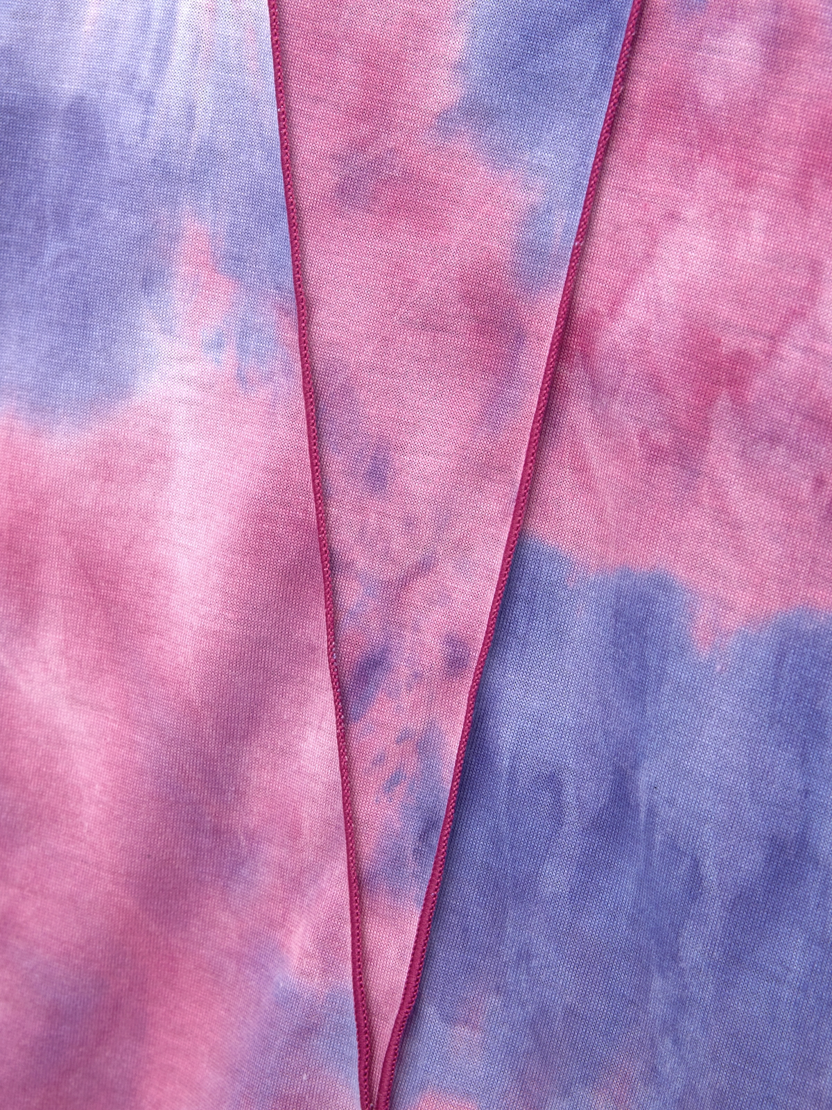 Tie Dye Mock Neck Tee Purple