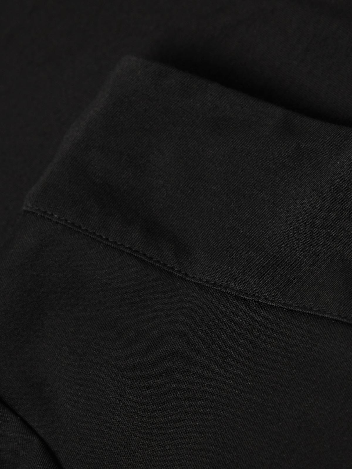 One Shoulder Short Sleeve Tee Black