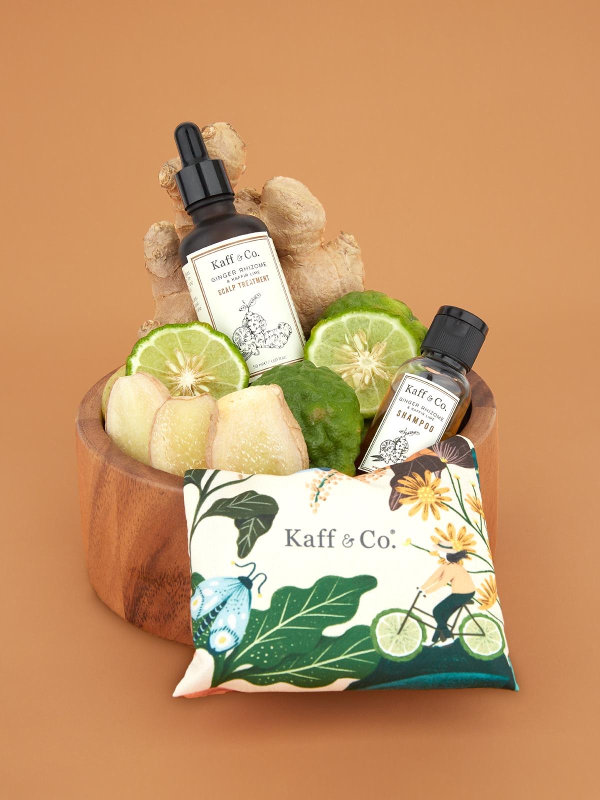 Kaff Co Ginger Rhizome Kaffir Lime Scalp Treatment 50 m