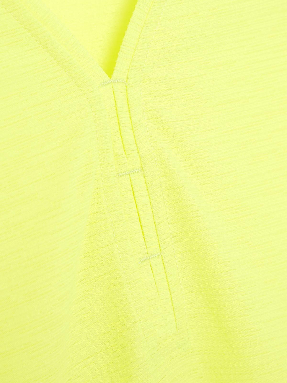 V Neck Tank Top Yellow