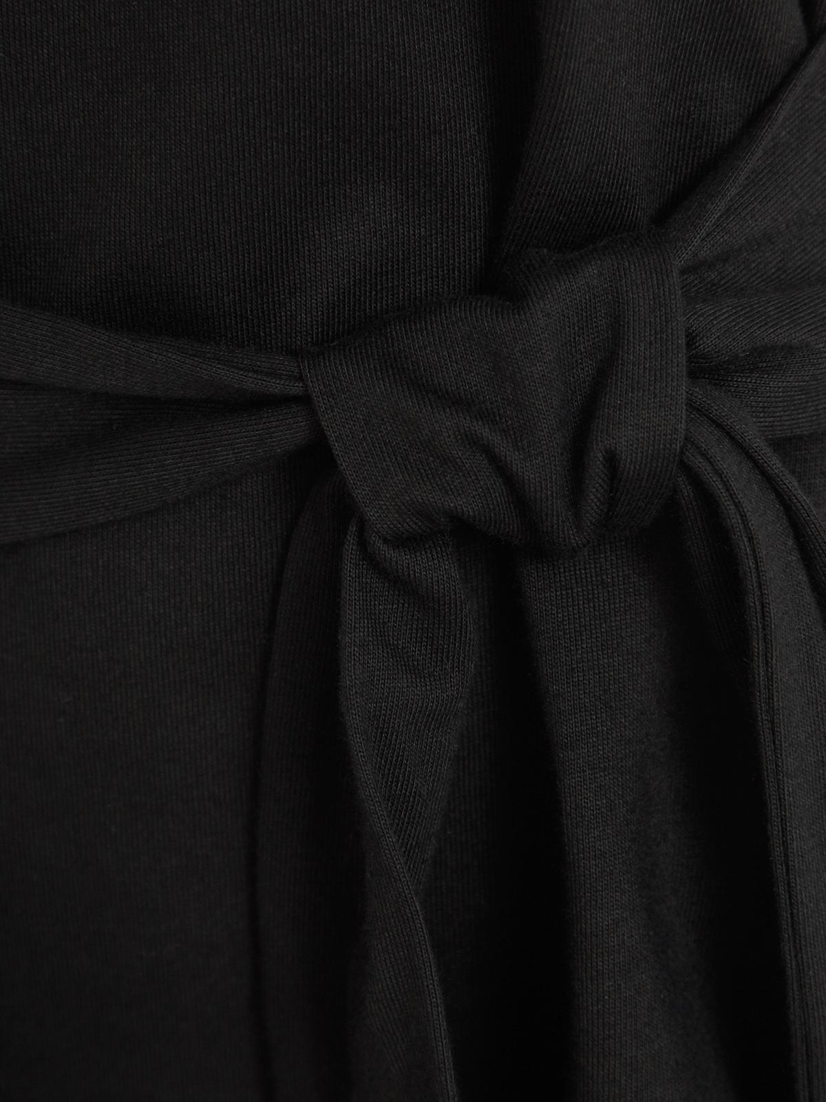 Waist Tie Tee Black