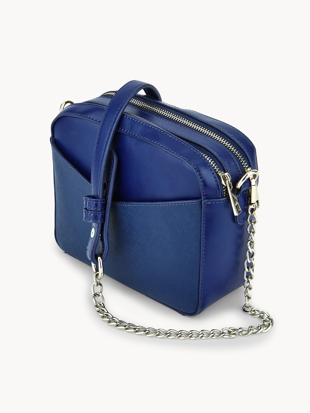 Chawisa 2 Sided Authentic Leather Bag Navy