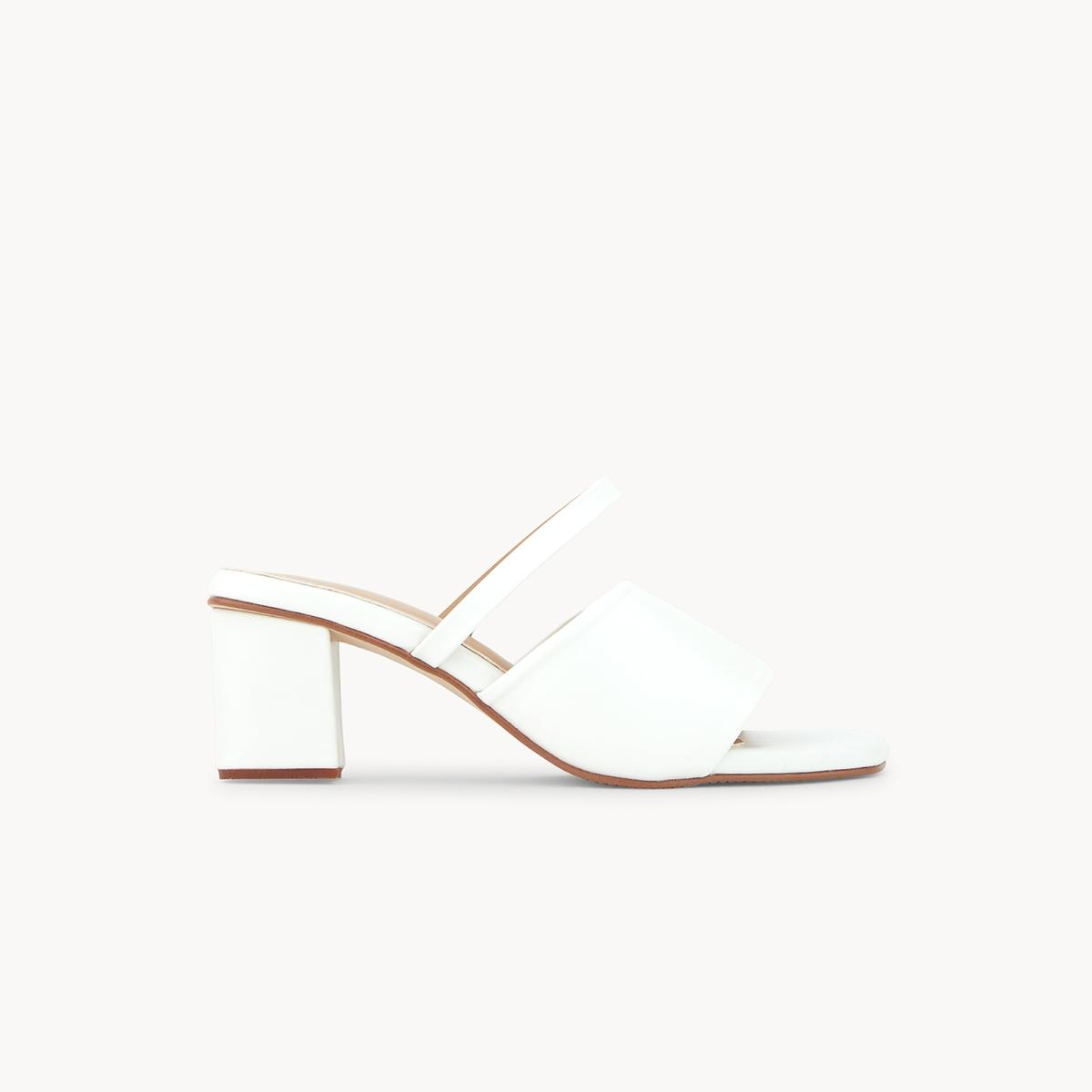 Chawisa Mule Heels White