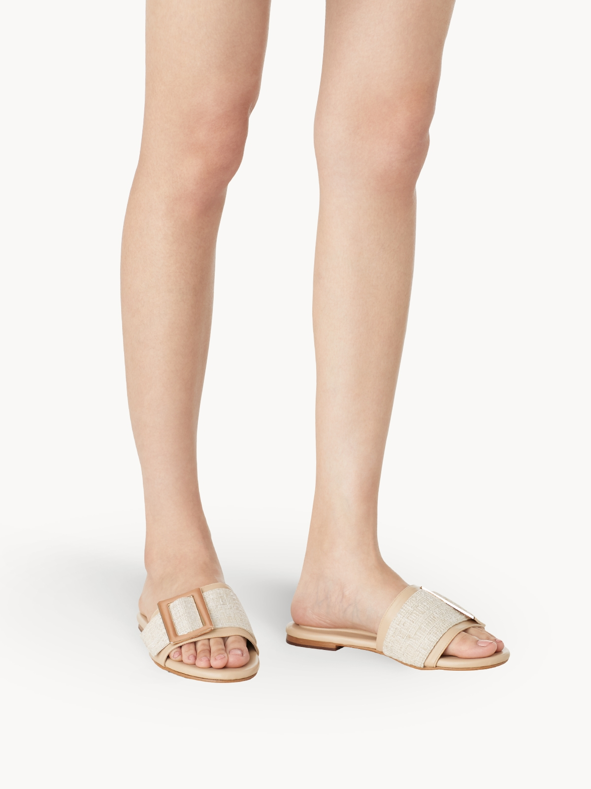 Chawisa Tweed Sandals Cream