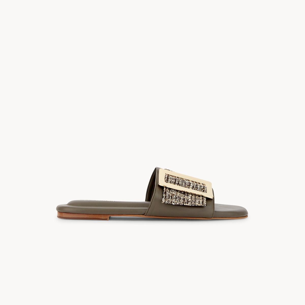 Chawisa Tweed Sandals Taupe