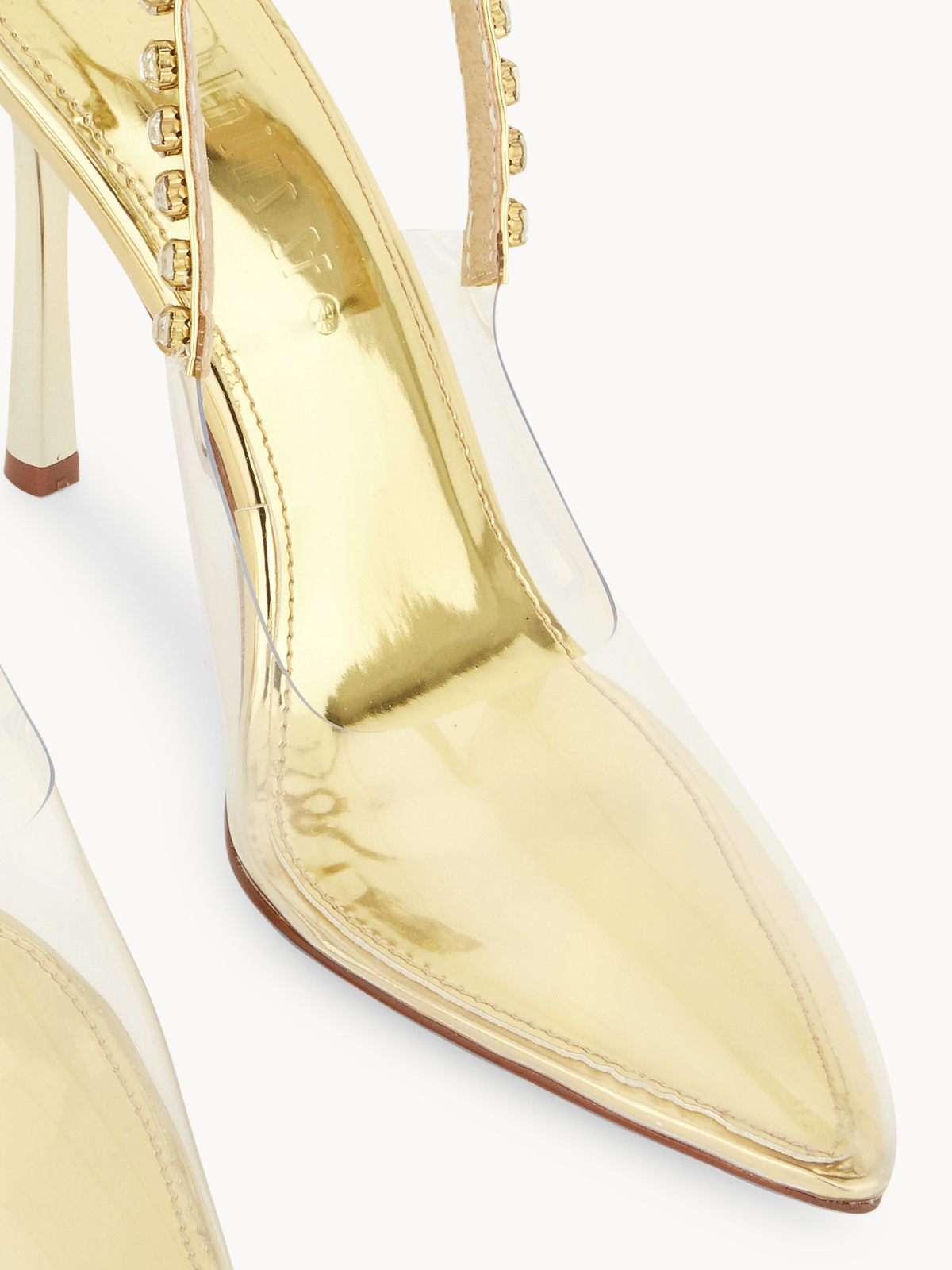 Villains SF Coretta Diamante Slingback Heels Gold