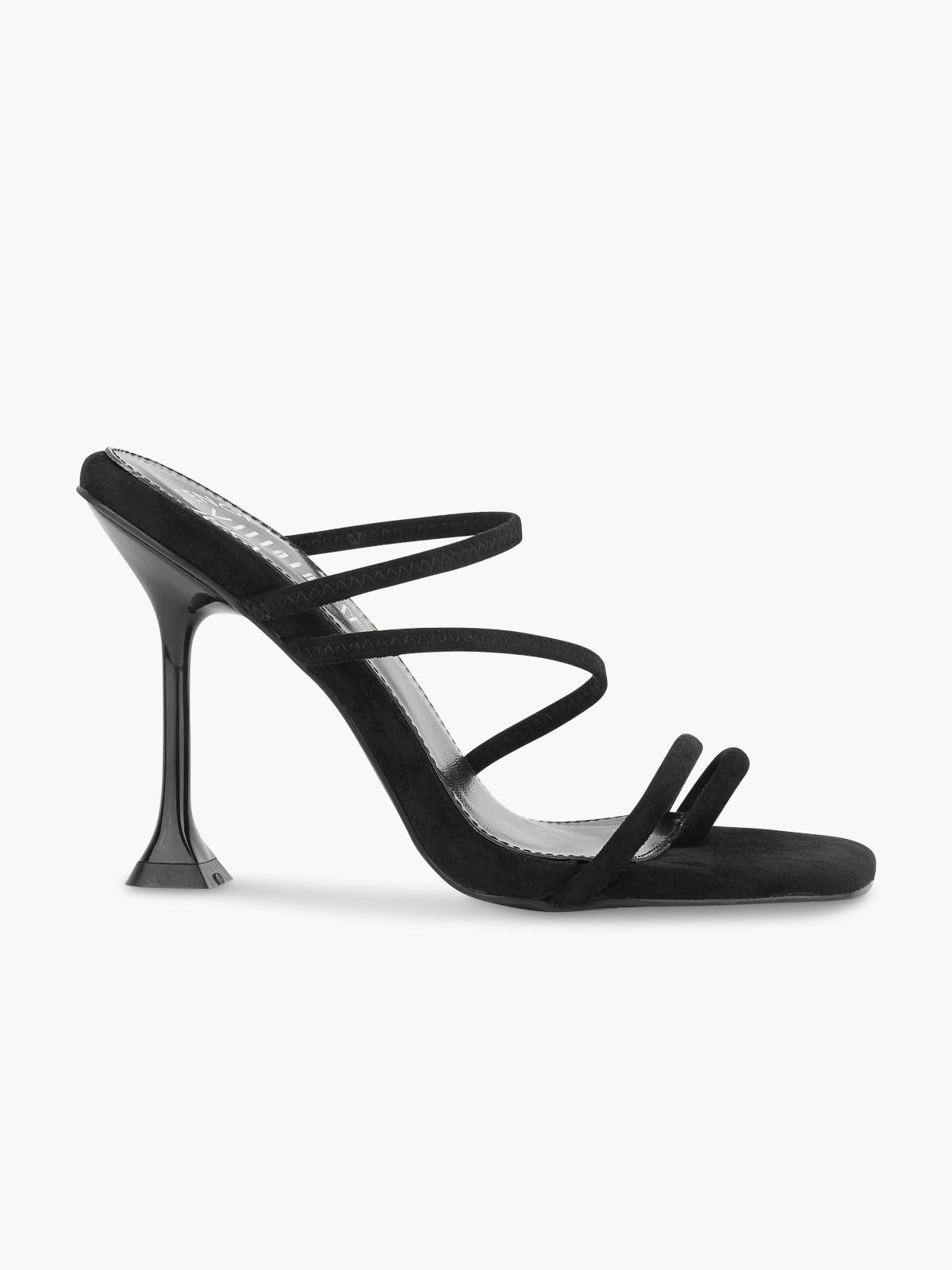 Villains SF Junko Strappy Heels Black