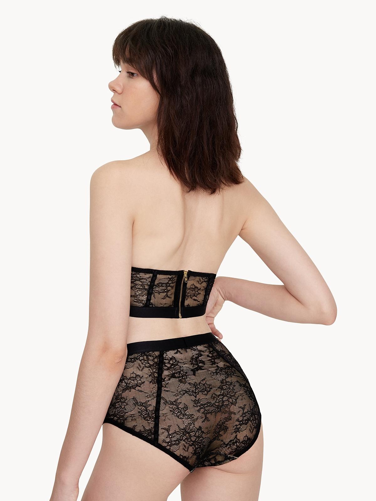 Sabina Woonsen Lace High Waist Bottom Black