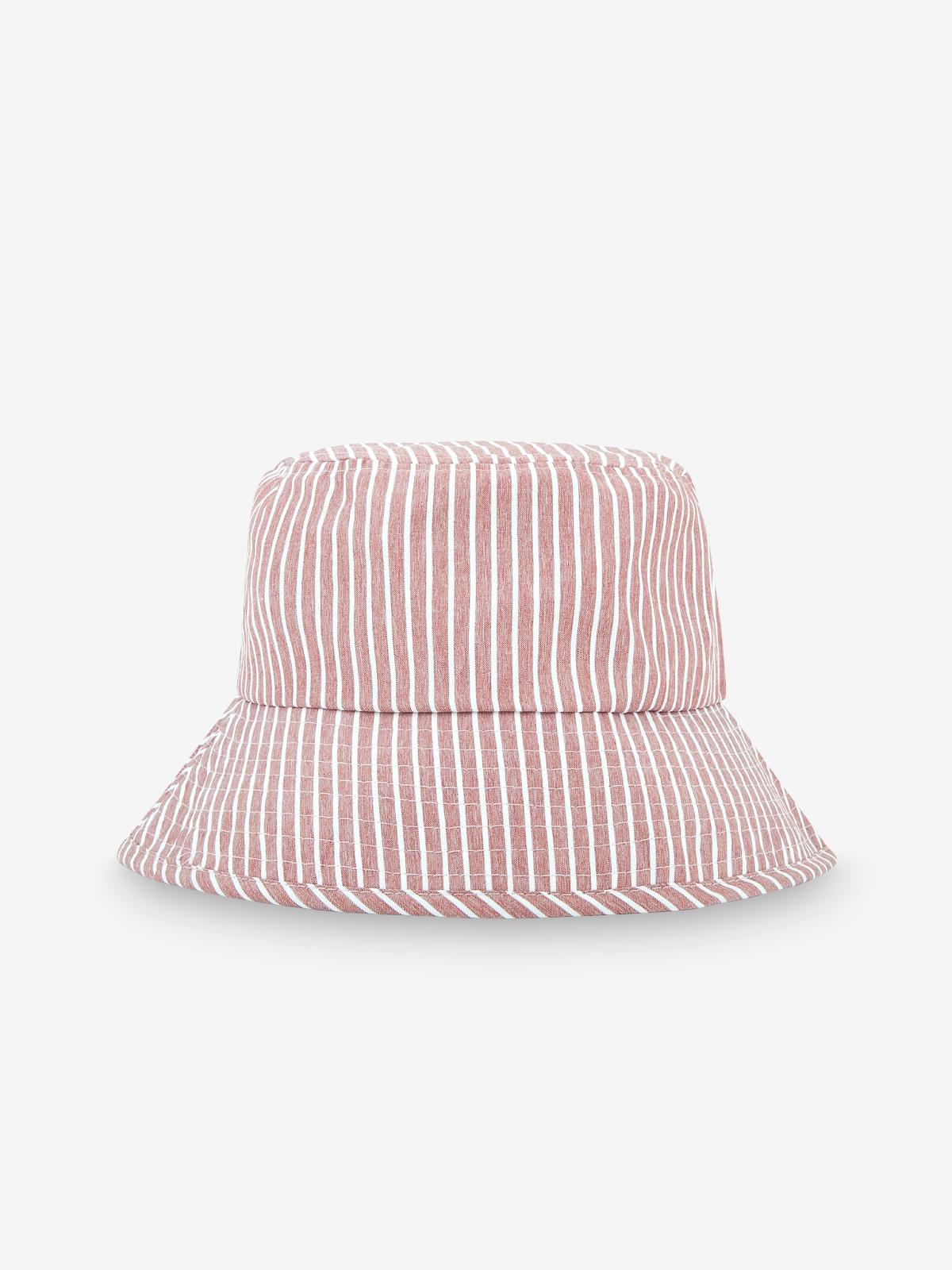 Striped Bucket Hat Pink