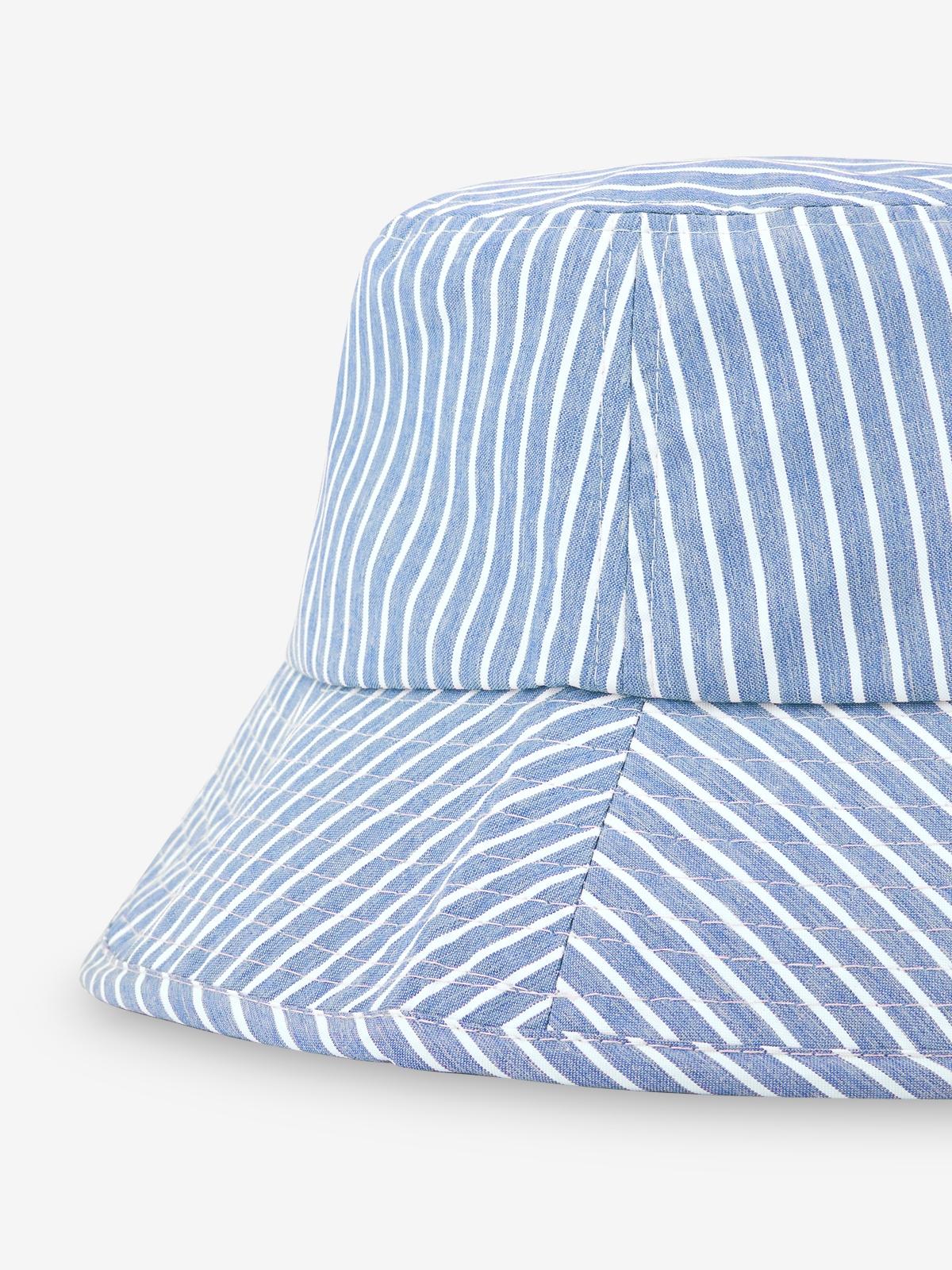 Striped Bucket Hat Blue