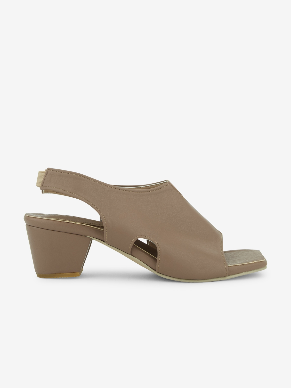Mosstories Decon Square Toe Heels Taupe