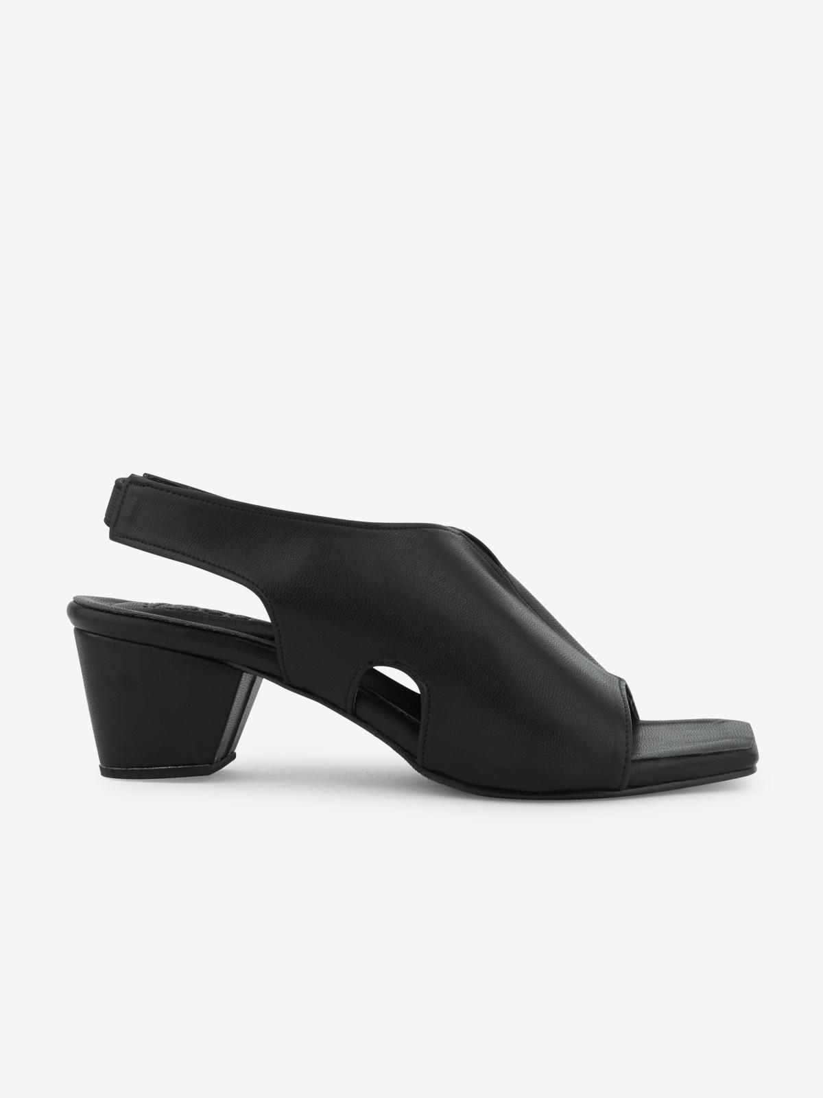 Mosstories Decon Square Toe Heels Black